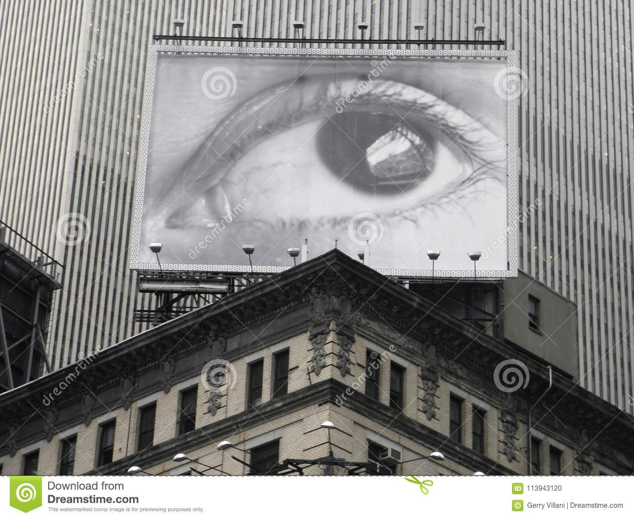 Download Eye Spy Billboard In Times Square, New York City Editorial Image - Image of look, billboard: 113943120