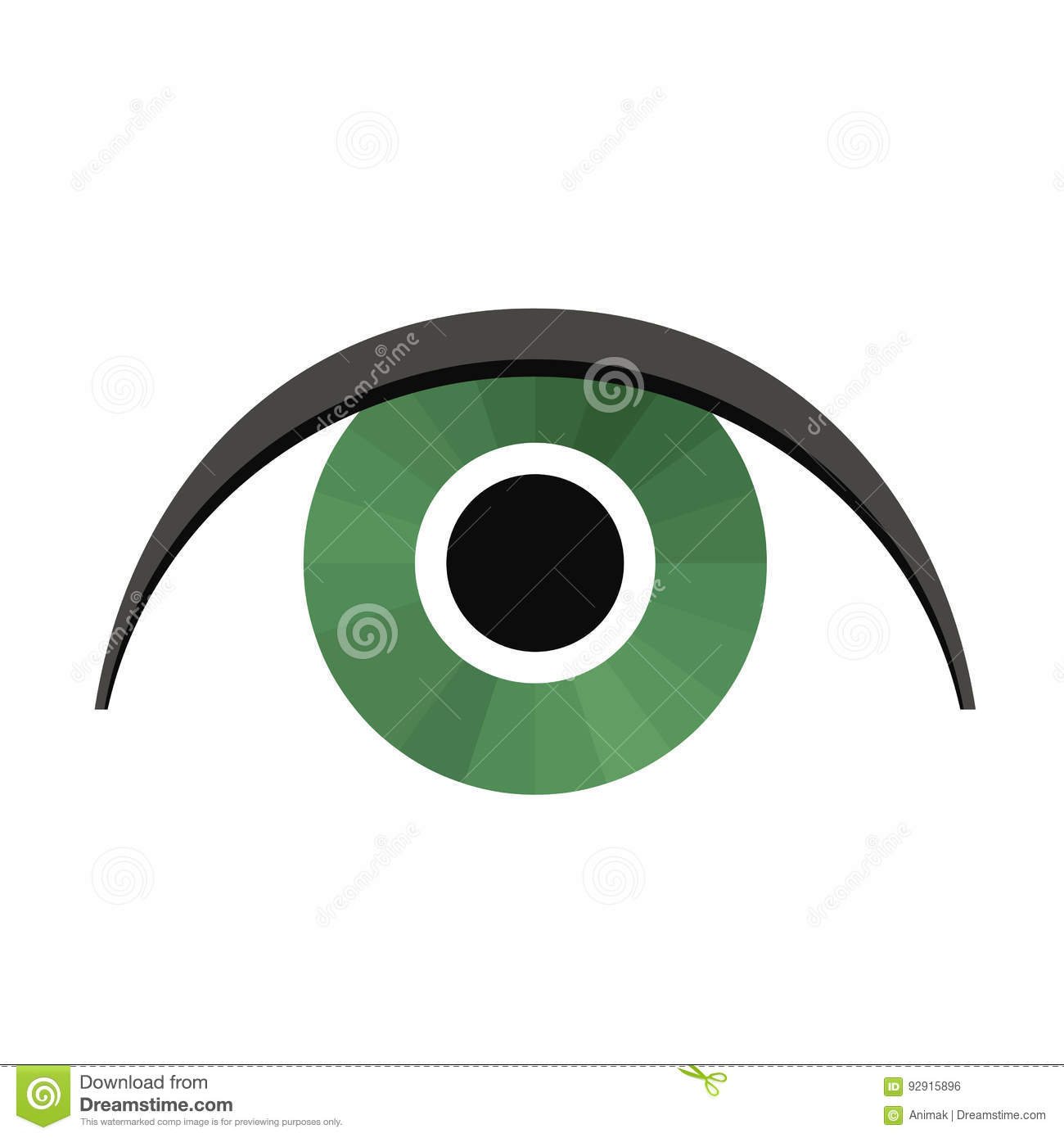 eye stylized stock vector illustration of vector icon 92915896