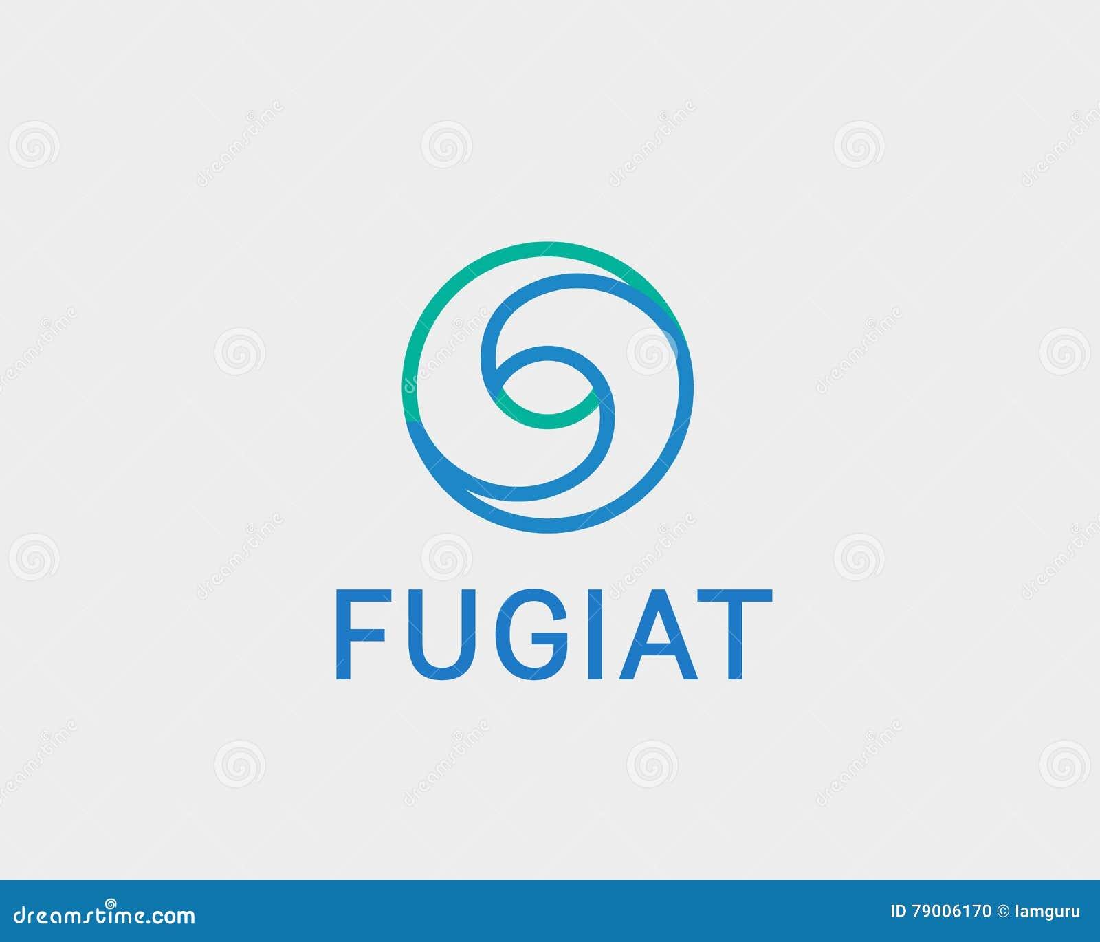 eye swirl spiral infinity logo symbol design template creative