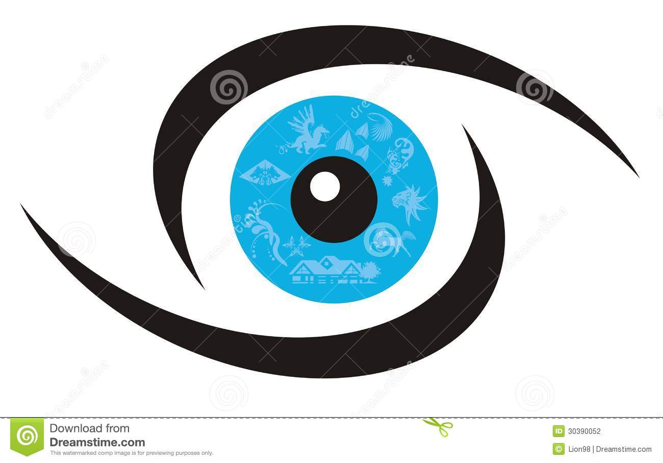 Eye Symbol Stock Photo...