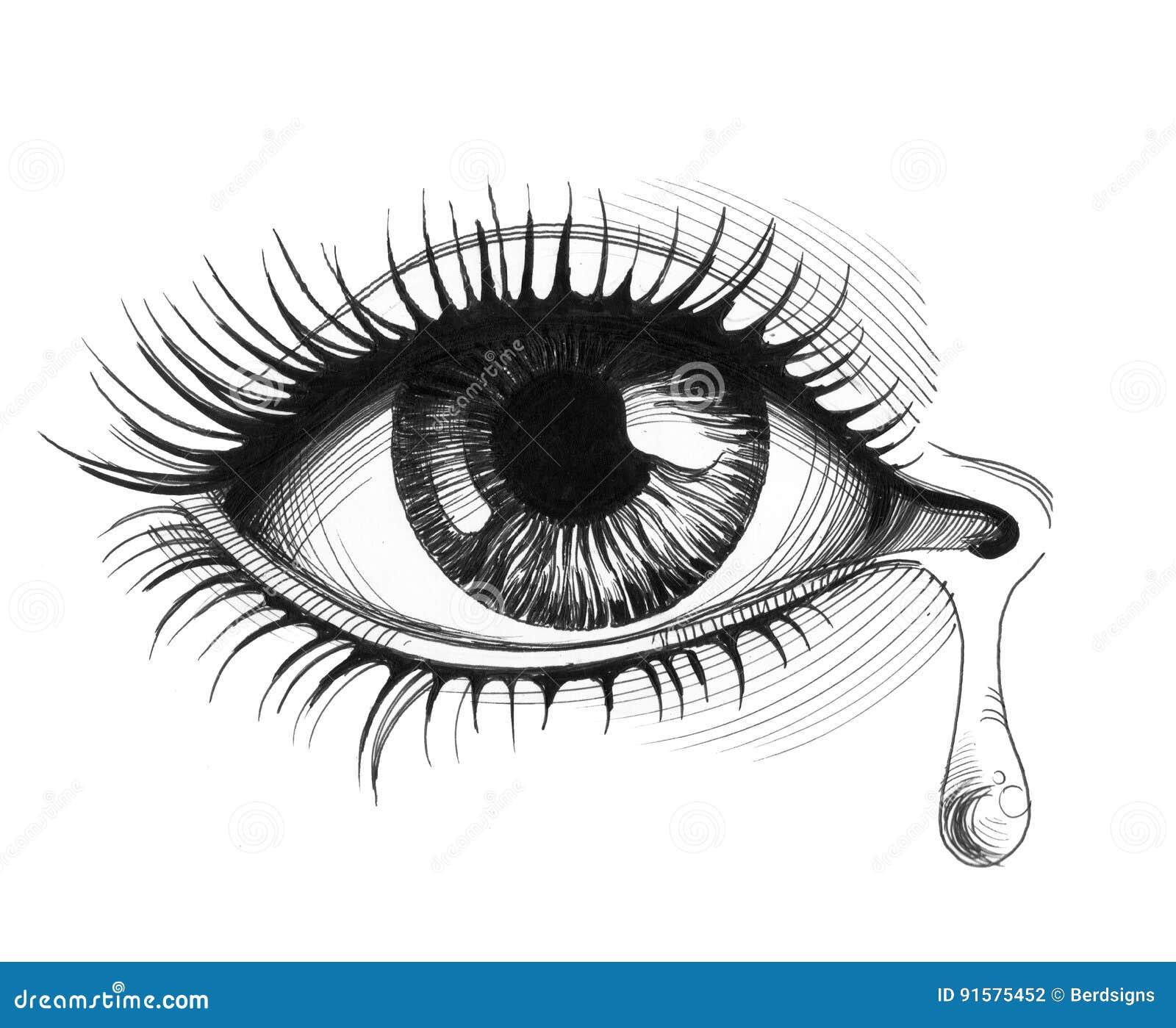 eye and tear stock illustration illustration of paper 91575452