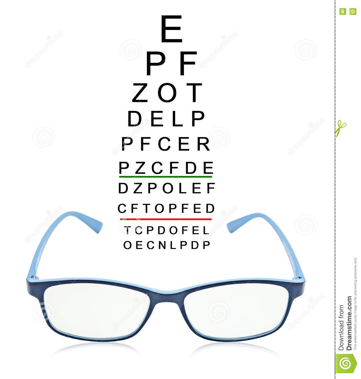 Eye test chart with blue glass stock photo image of instrument eye test chart with blue glass geenschuldenfo Image collections