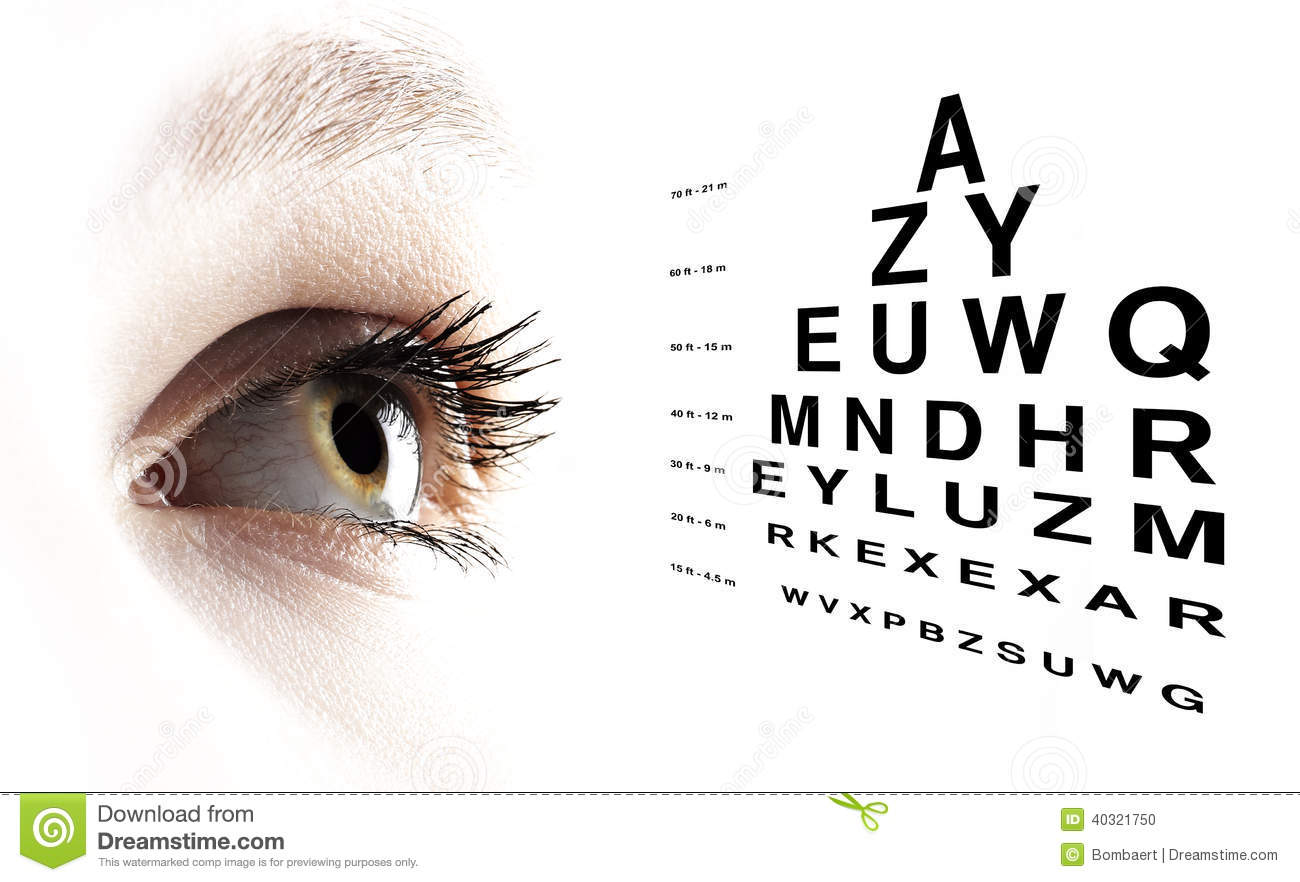 Eye with test vision chart close up stock photo image of blind eye with test vision chart close up geenschuldenfo Image collections