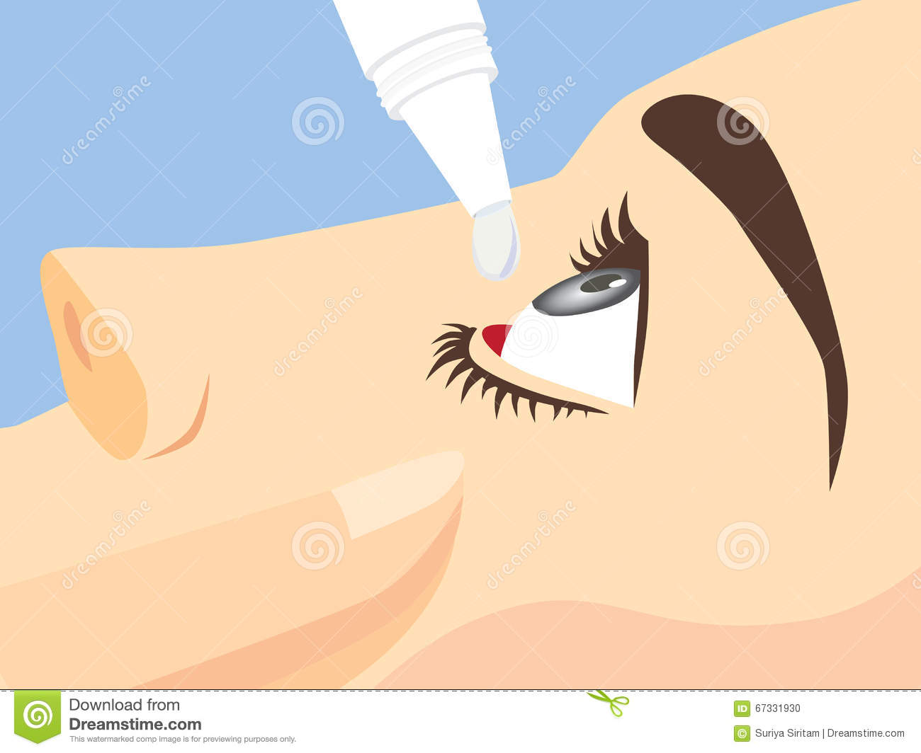 d08899252e0 Eye Treatment With Eye Drops Stock Vector - Illustration of clean ...