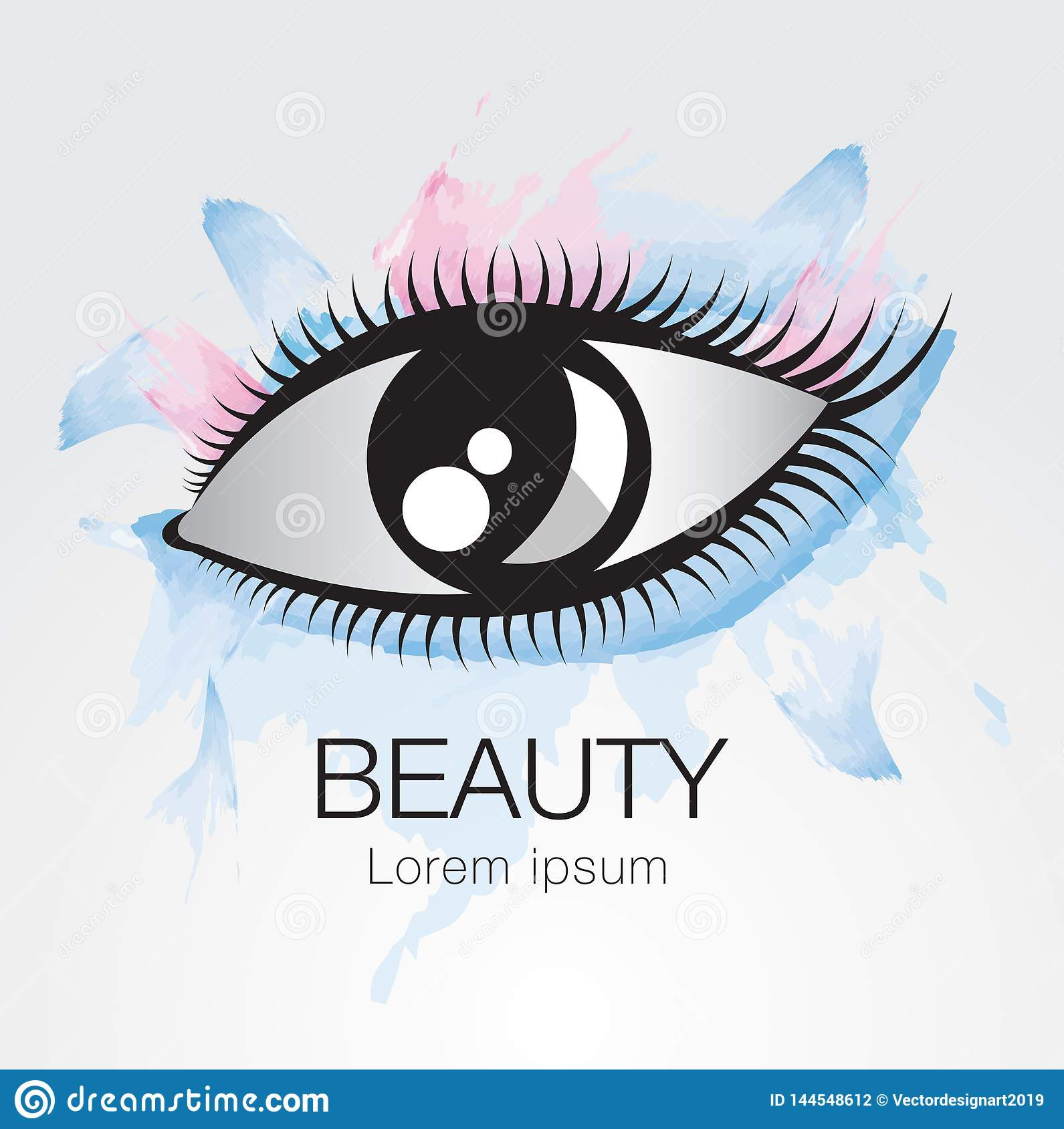 Eye vector icon, logo design for fashion, beauty, cosmetics, spa, web icon, hand drawn