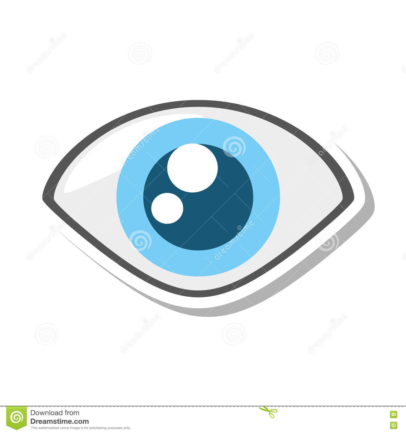 Eye View Security Symbol Isolated Icon Stock Vector Illustration