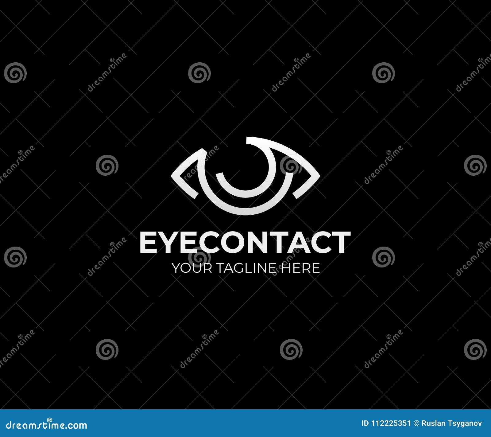 eye vision logo template eyeball vector design stock vector
