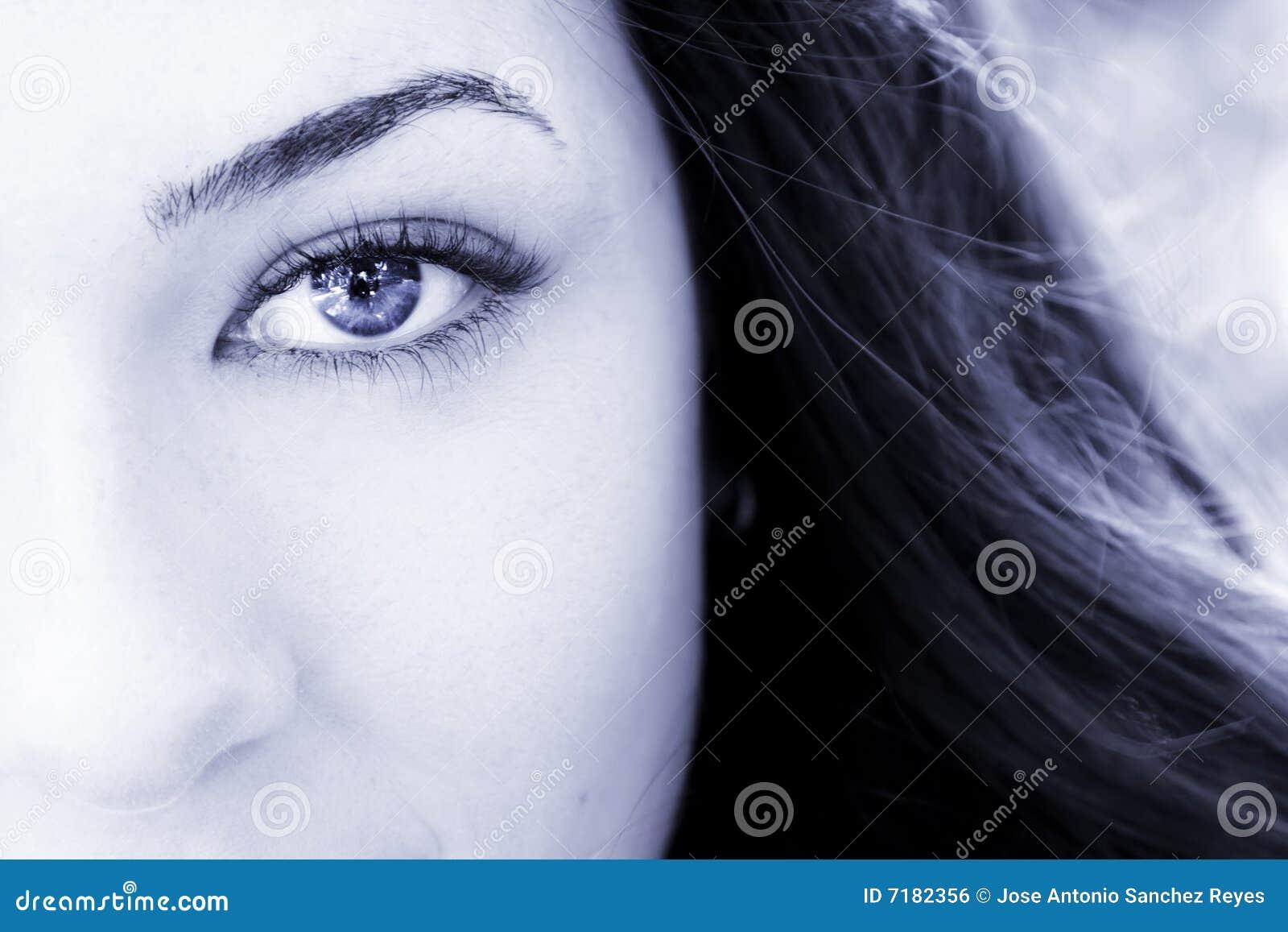 Eye woman