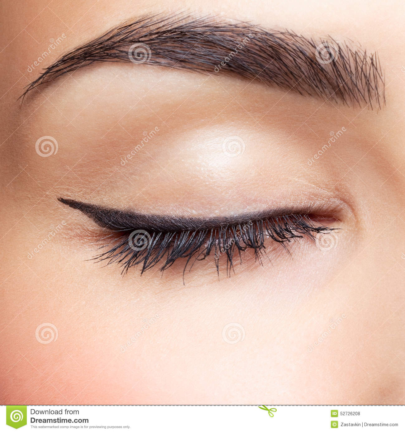 eye zone makeup stock photo image of makeup closed