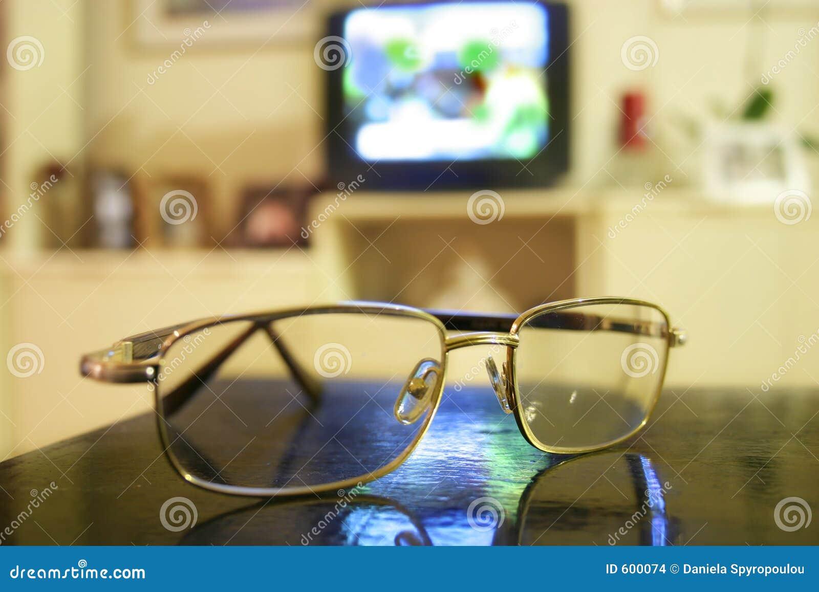 Download Eyeglasses установили tv стоковое фото. изображение насчитывающей коммерчески - 600074