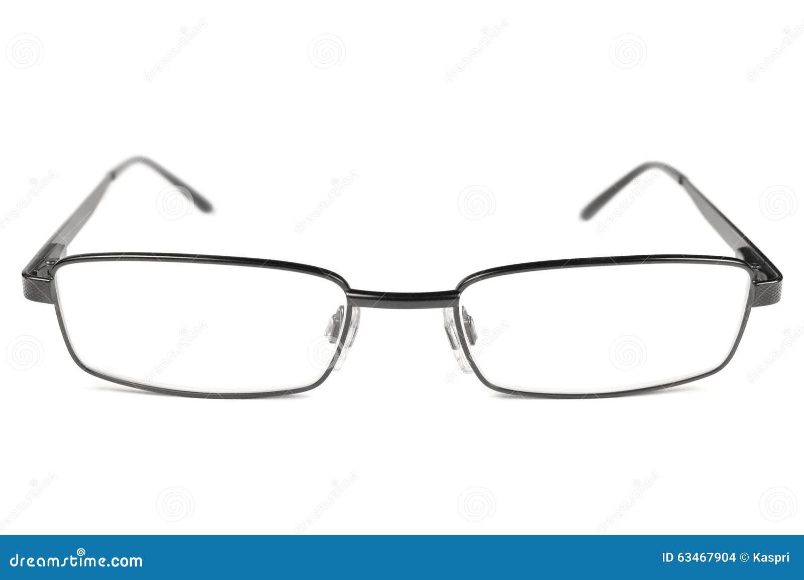 Eyeglasses, Black Men Spectacles, Titanium Frame, Isolated ...