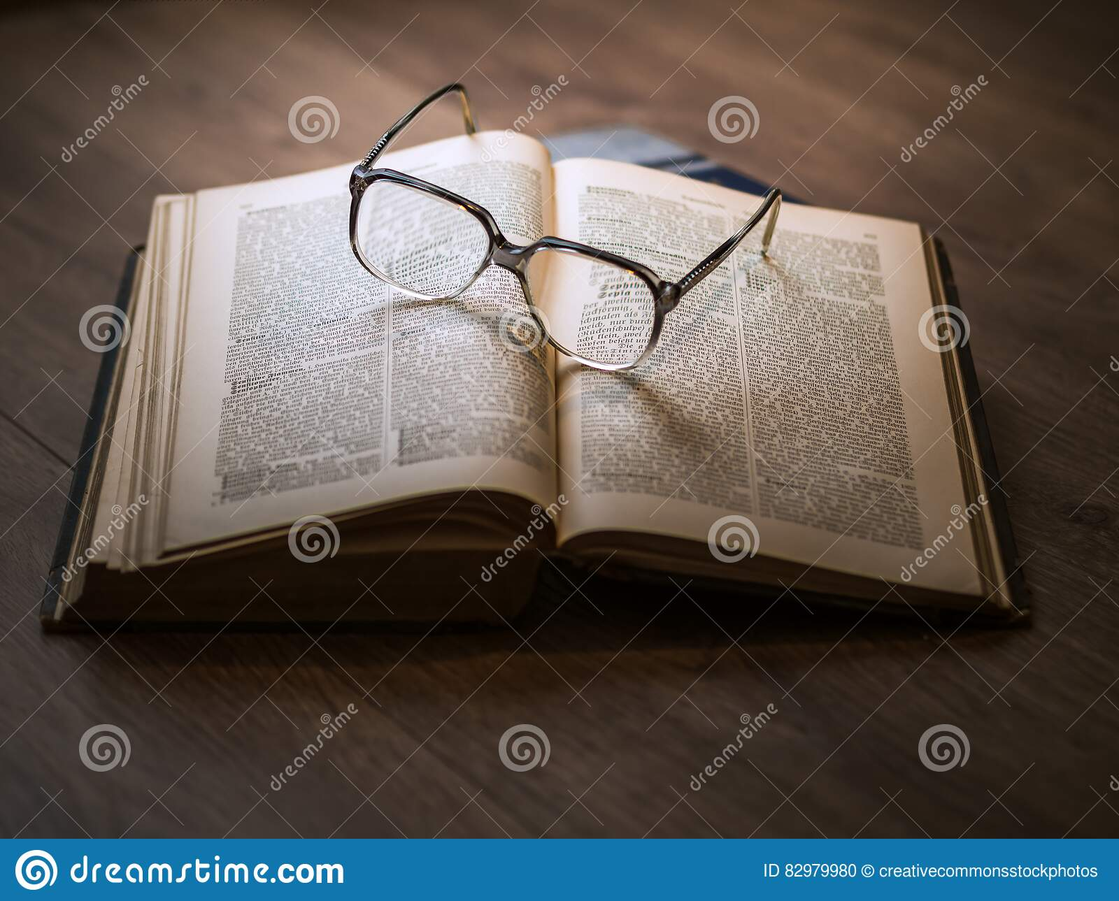 Eyeglasses On Book Picture. Image: 82979980