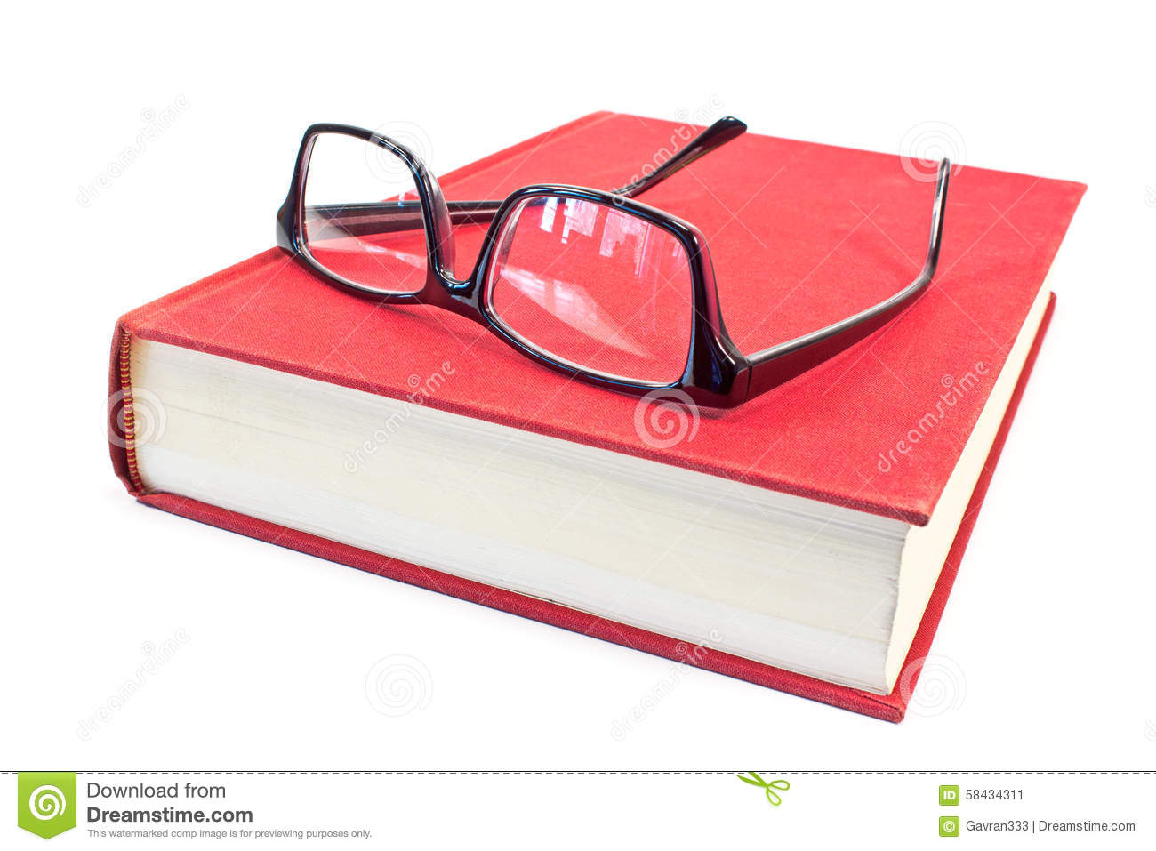 Eyeglasses and book stock image. Image of cover, text ...