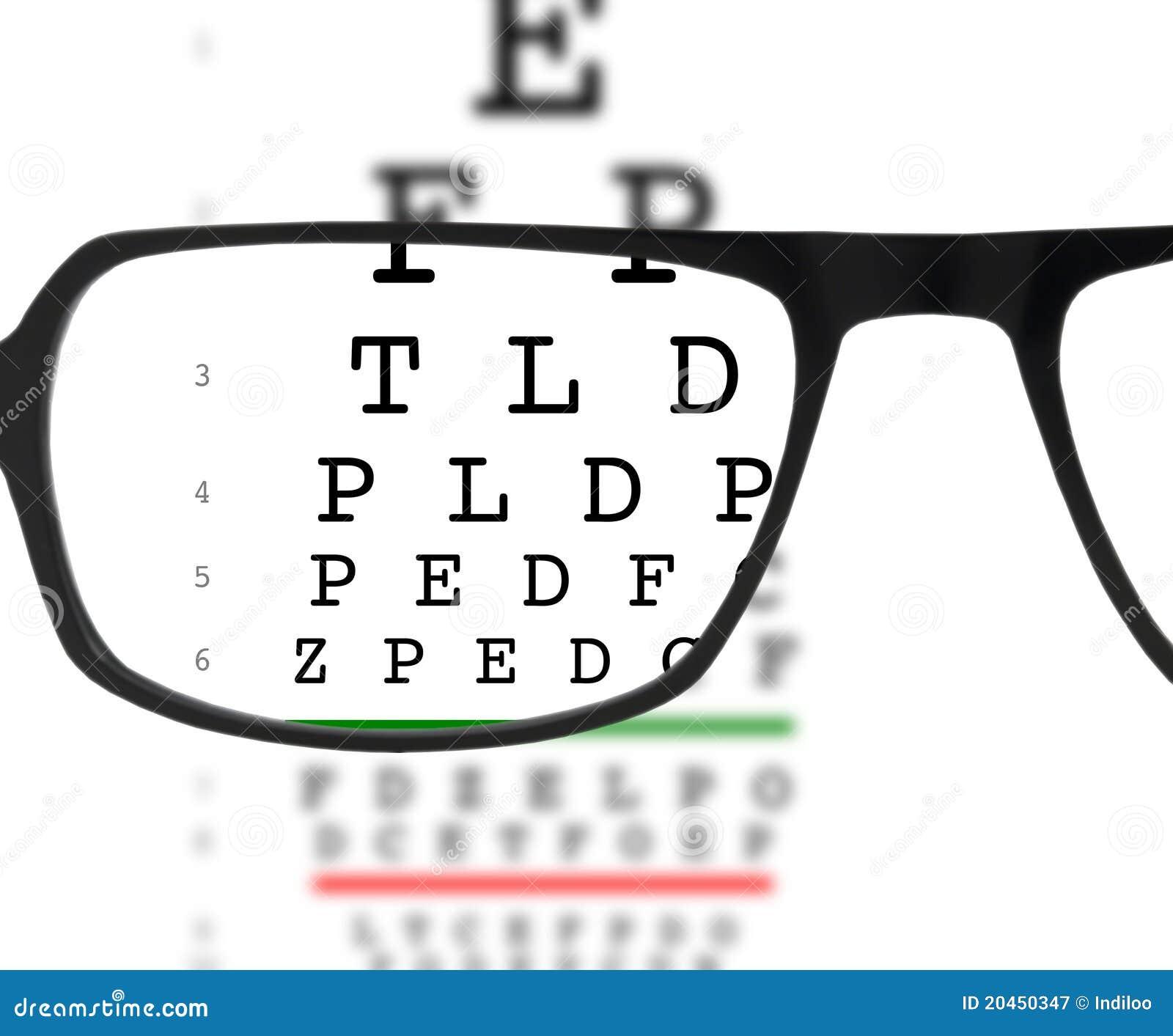 Eyeglasses and eye chart stock image image of focus 20450347 eyeglasses and eye chart geenschuldenfo Choice Image