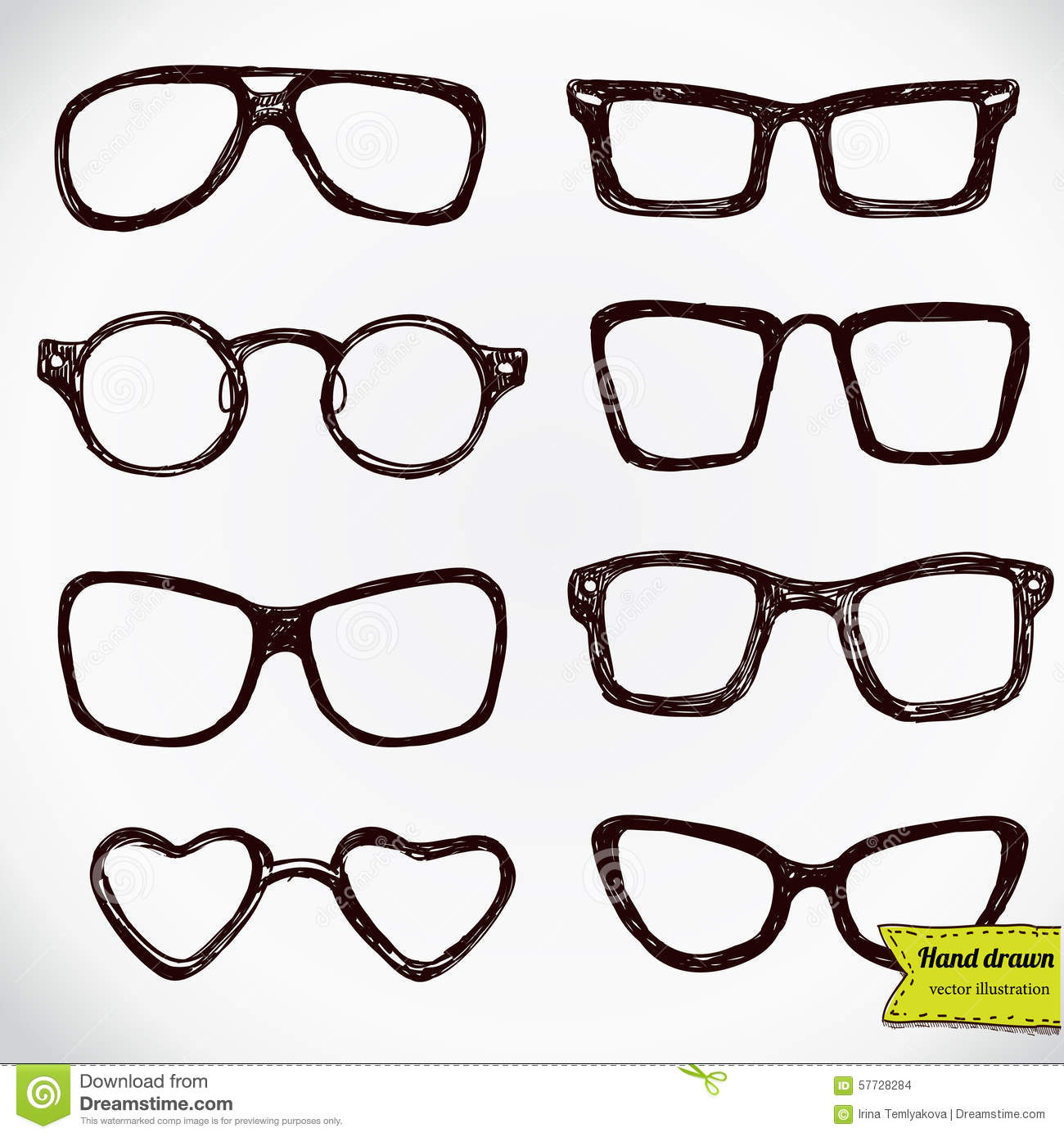 Line Drawing Glasses : Eyeglasses isolated on white stock vector image