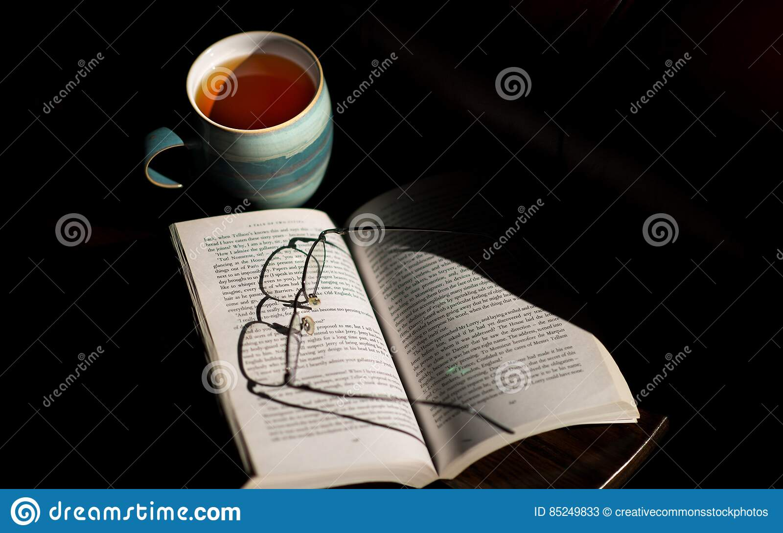 Eyeglasses On Open Book Picture. Image: 85249833