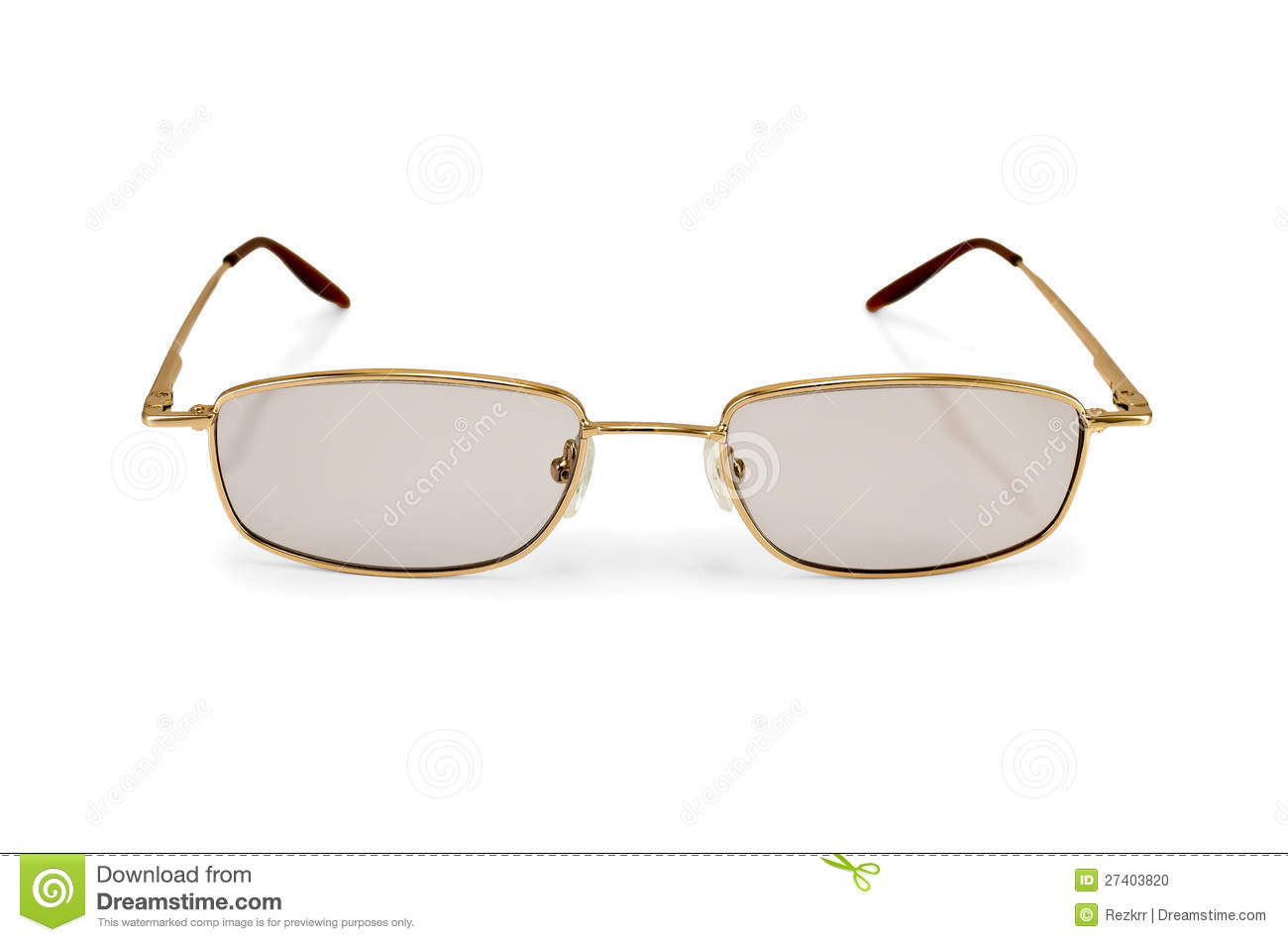eyeglasses with tinted glasses with a light shade on white background. Black Bedroom Furniture Sets. Home Design Ideas