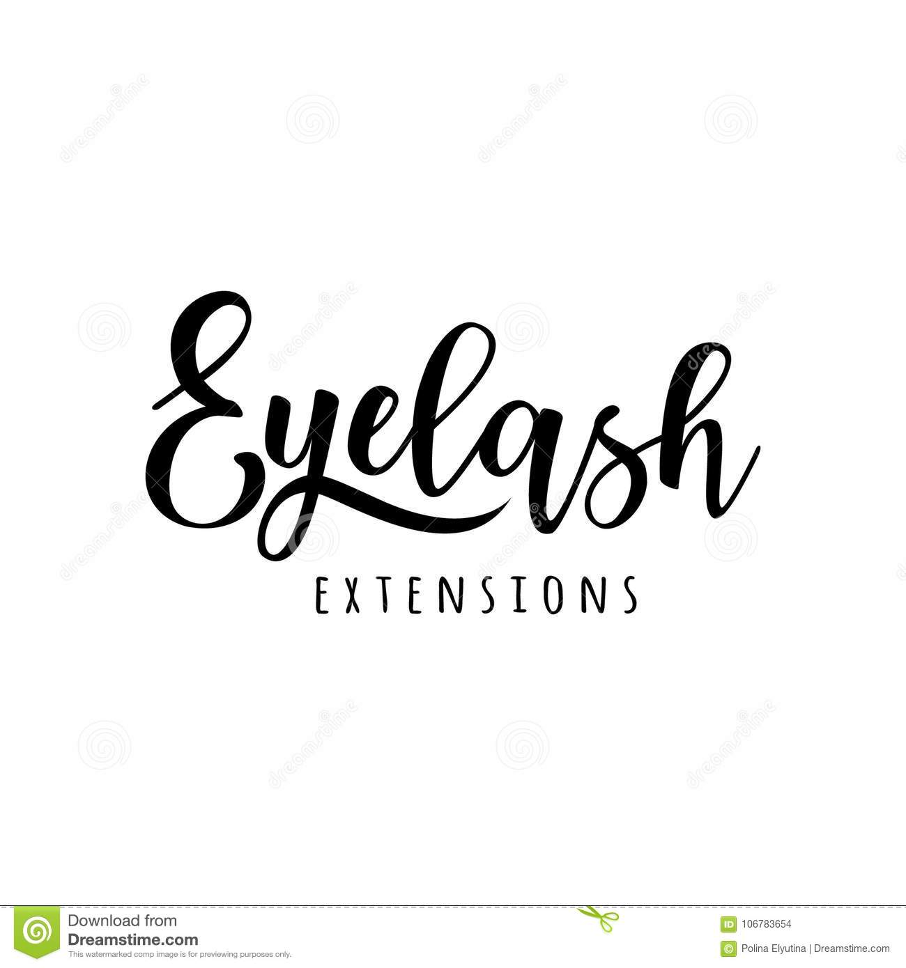 1fe40bc139c Eyelash extension logo. Vector illustration in a modern style. For beauty  salon, lash extensions maker. More similar stock illustrations