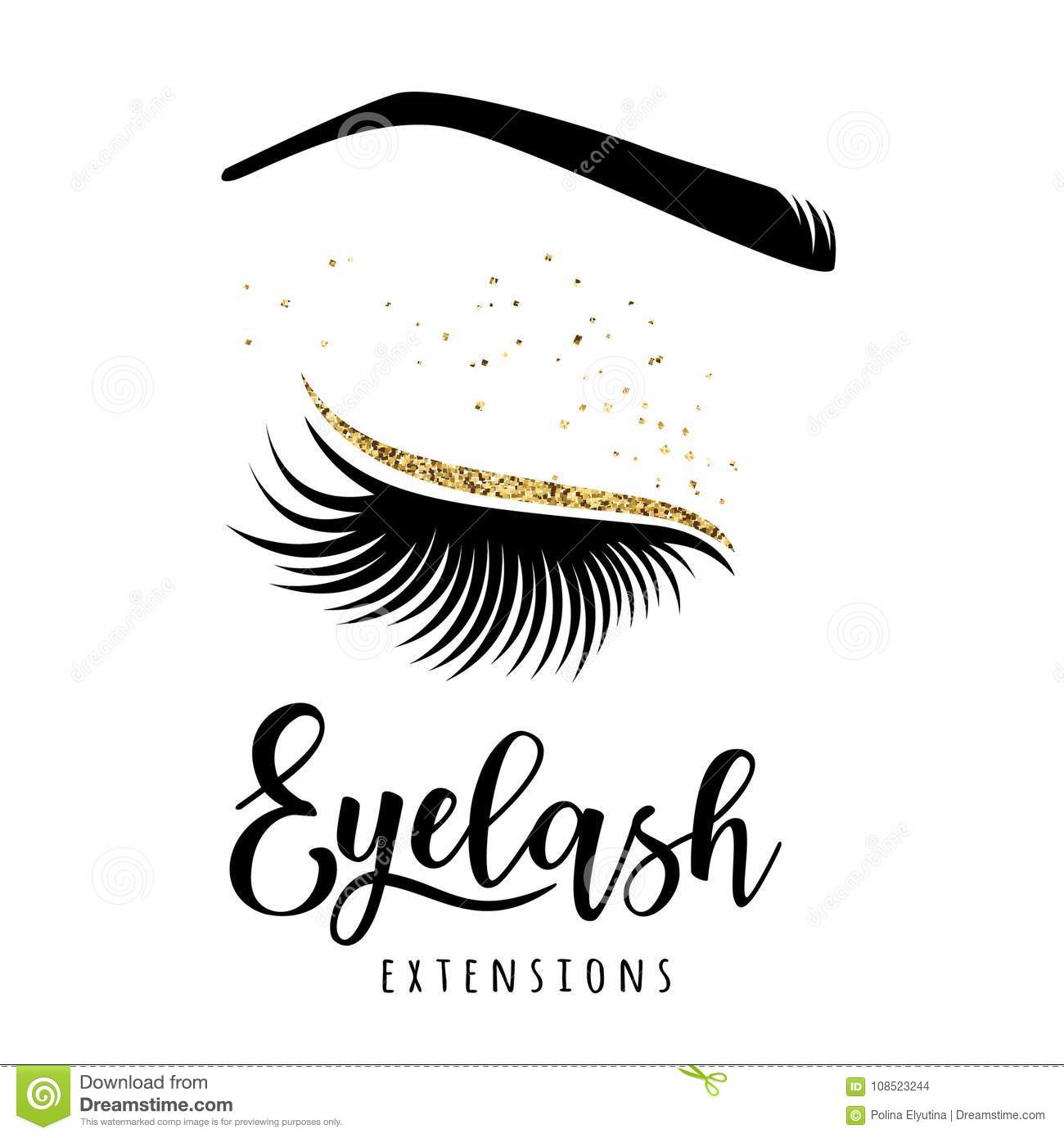 ff11e39e2cb Eyelash extensions logo. Vector illustration of lashes. For beauty salon,  lash extensions maker.