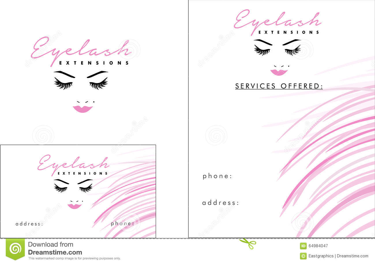 Eyelash modern logo business card 2 x 35 flyer 425 x 55 stock royalty free vector download eyelash modern logo business card magicingreecefo Image collections
