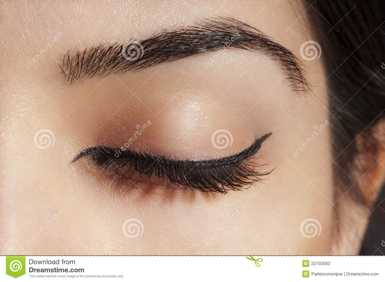 Eyeliner on Closed Eye