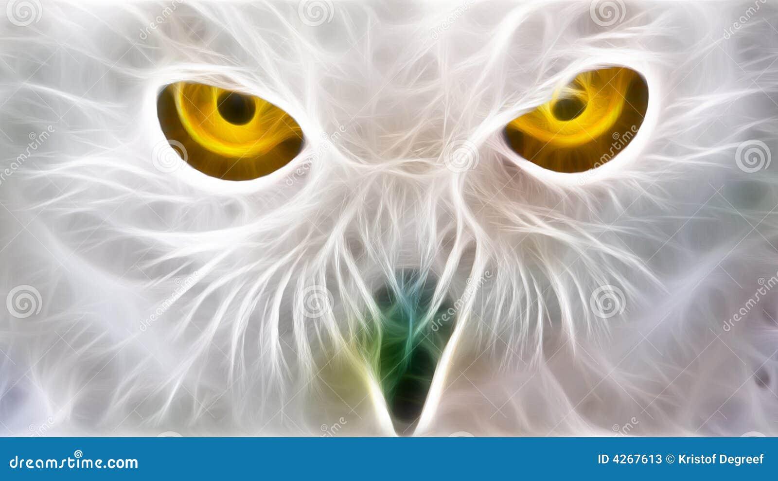Eyes сыч фрактали