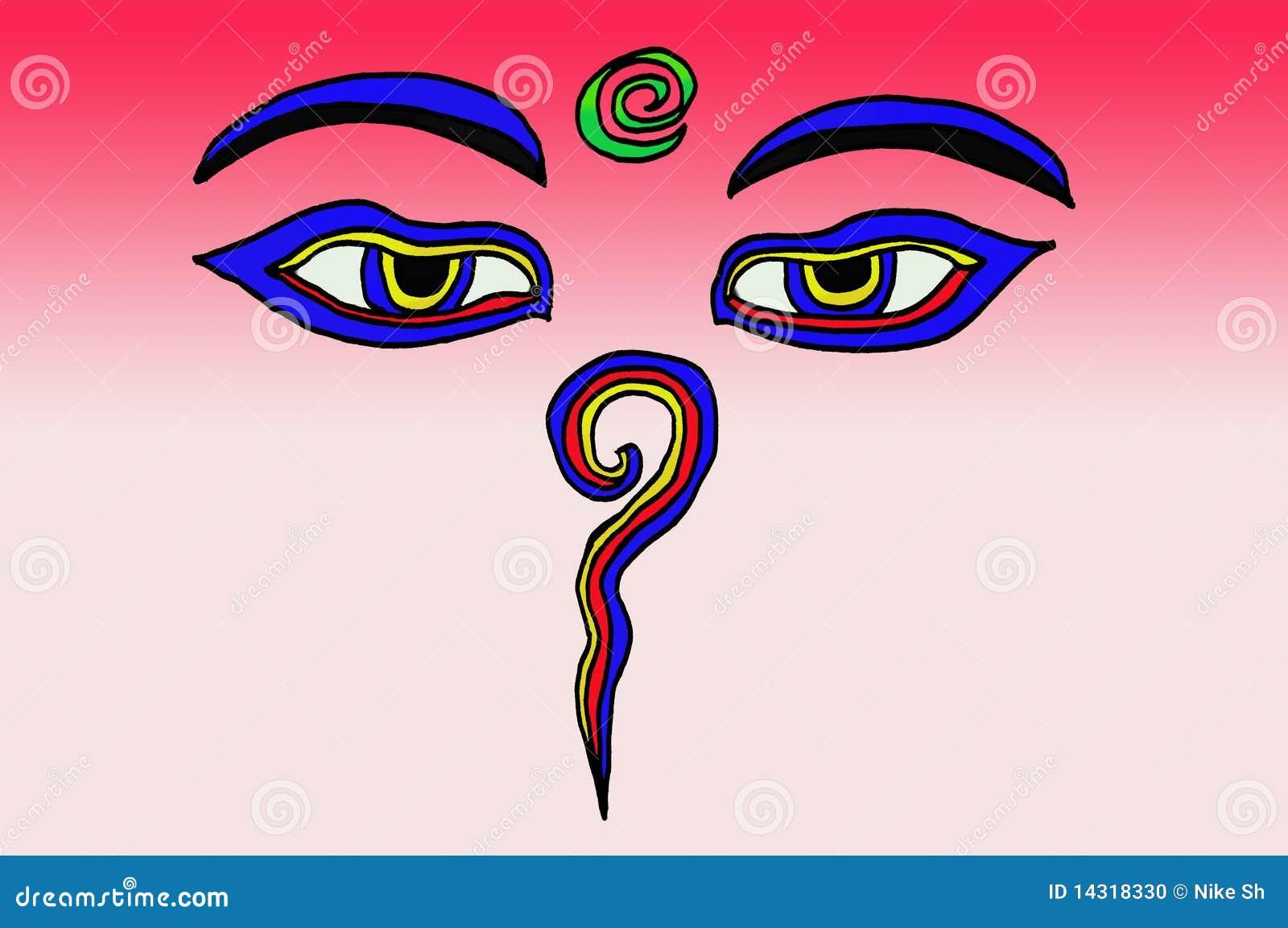 Eyes of the buddha stock illustration illustration of drawn eyes of the buddha biocorpaavc Images