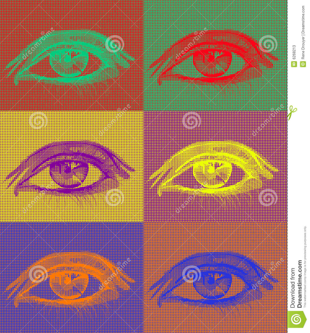 Eyes In Complementary Colors Stock Photos Image 6268213