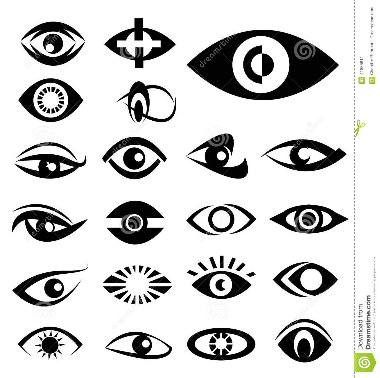 Eyes Designs Stock Vector - Image: 41886611