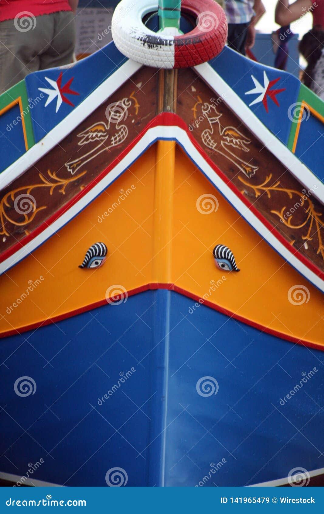 The Luzzu is a Maltese Boat