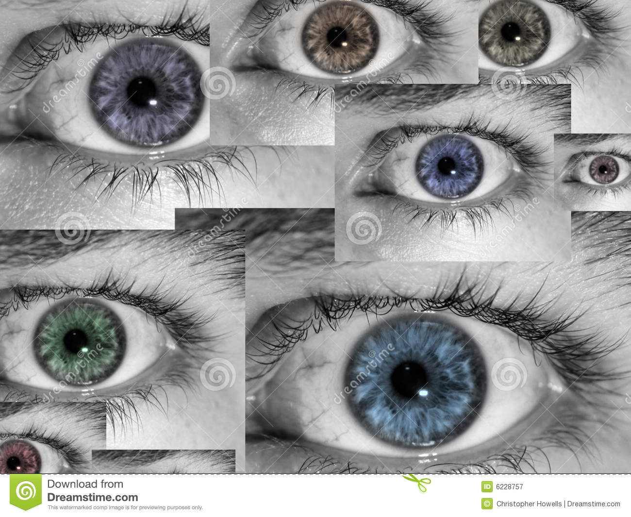 Eyes il collage