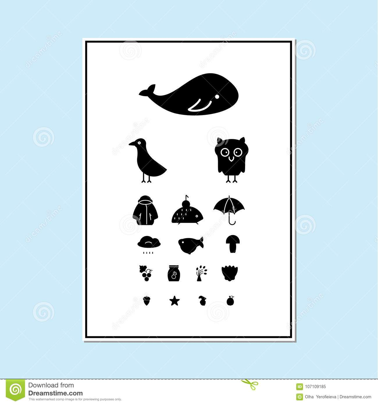 Eyes test chart stock vector illustration of doctor 107109185 eyes test chart doctor exam geenschuldenfo Image collections