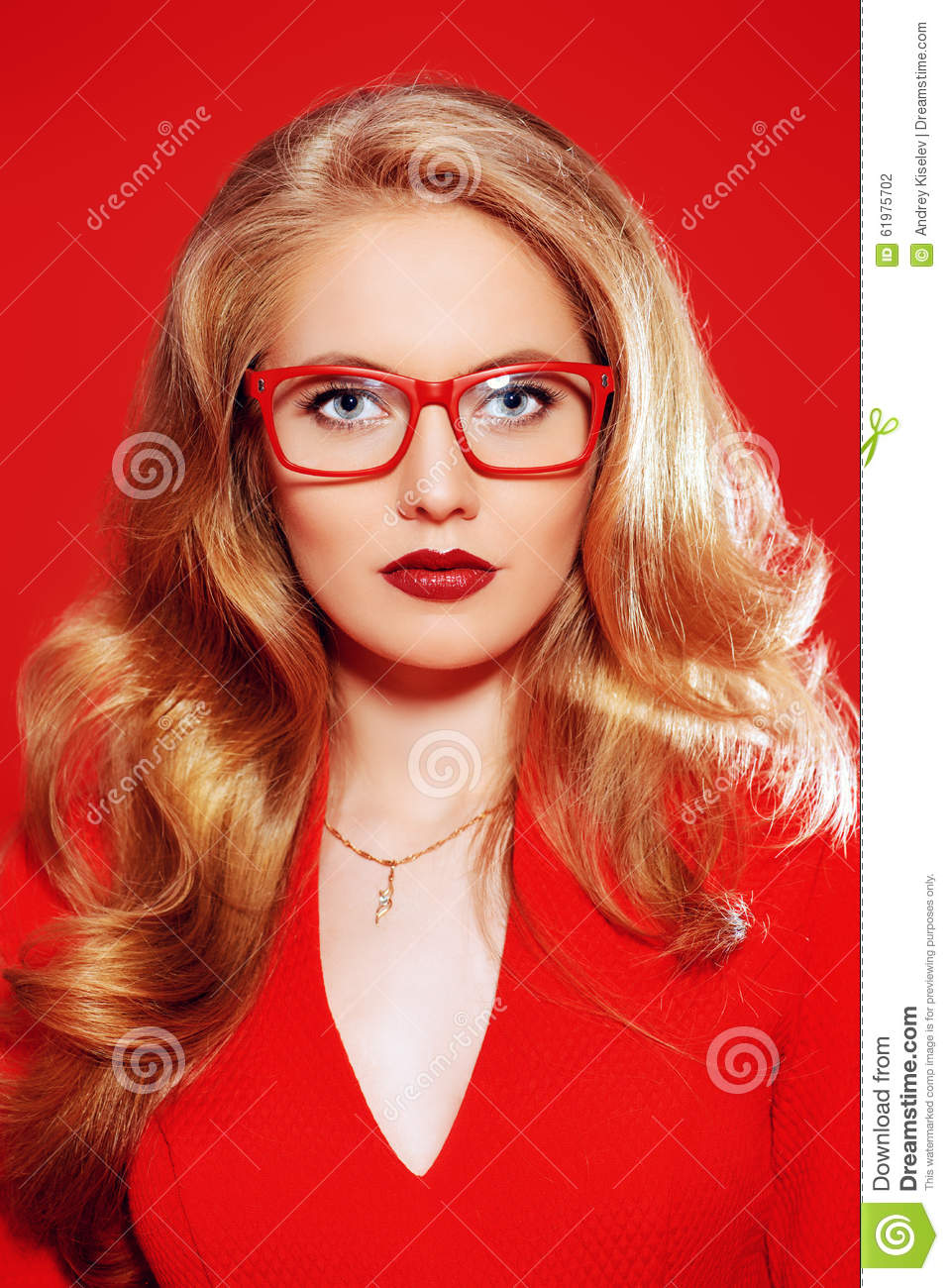 Eyewear Style Stock Photo Image Of Cosmetics Blonde 61975702