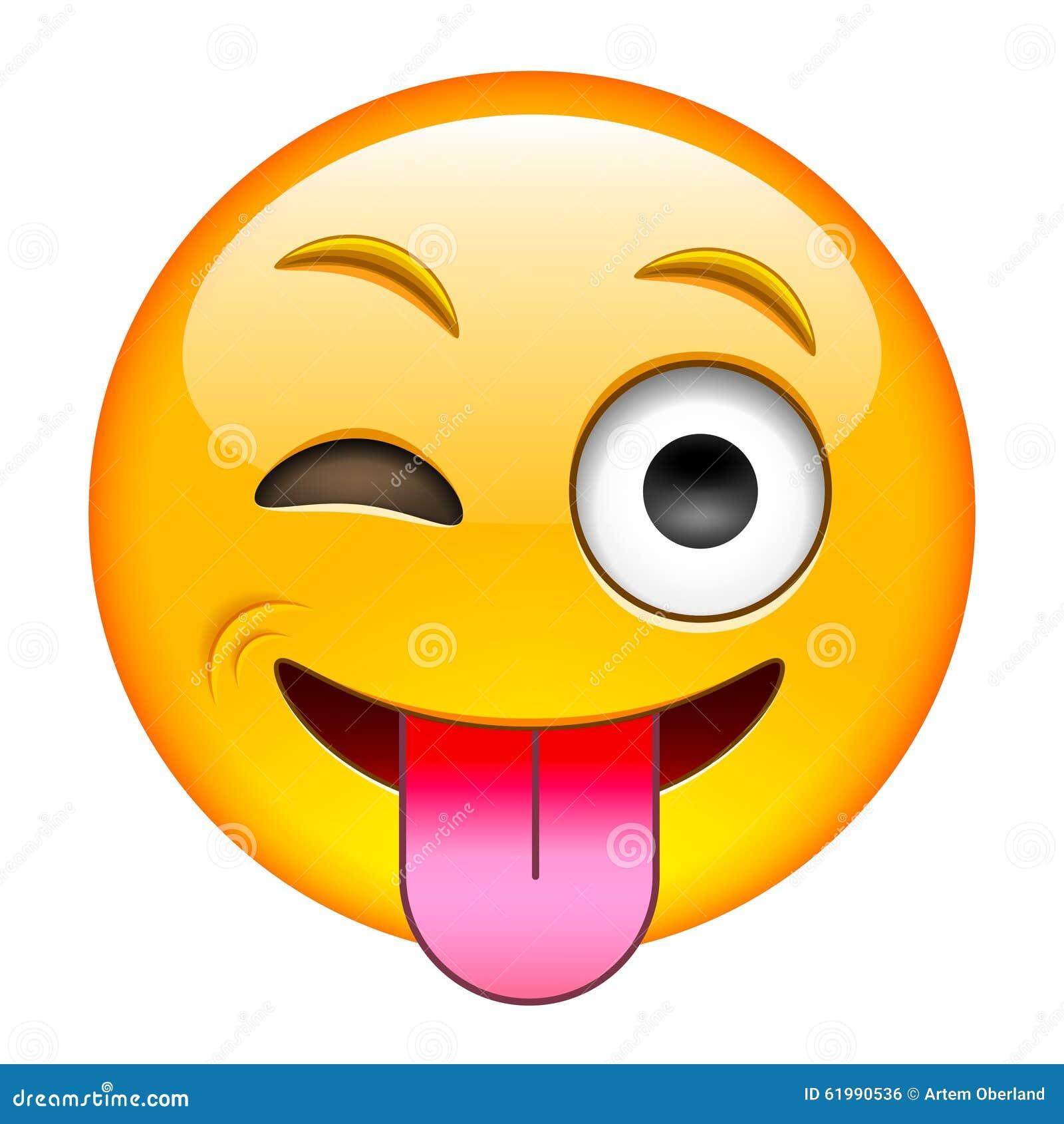 Smiley Zunge Zeigen