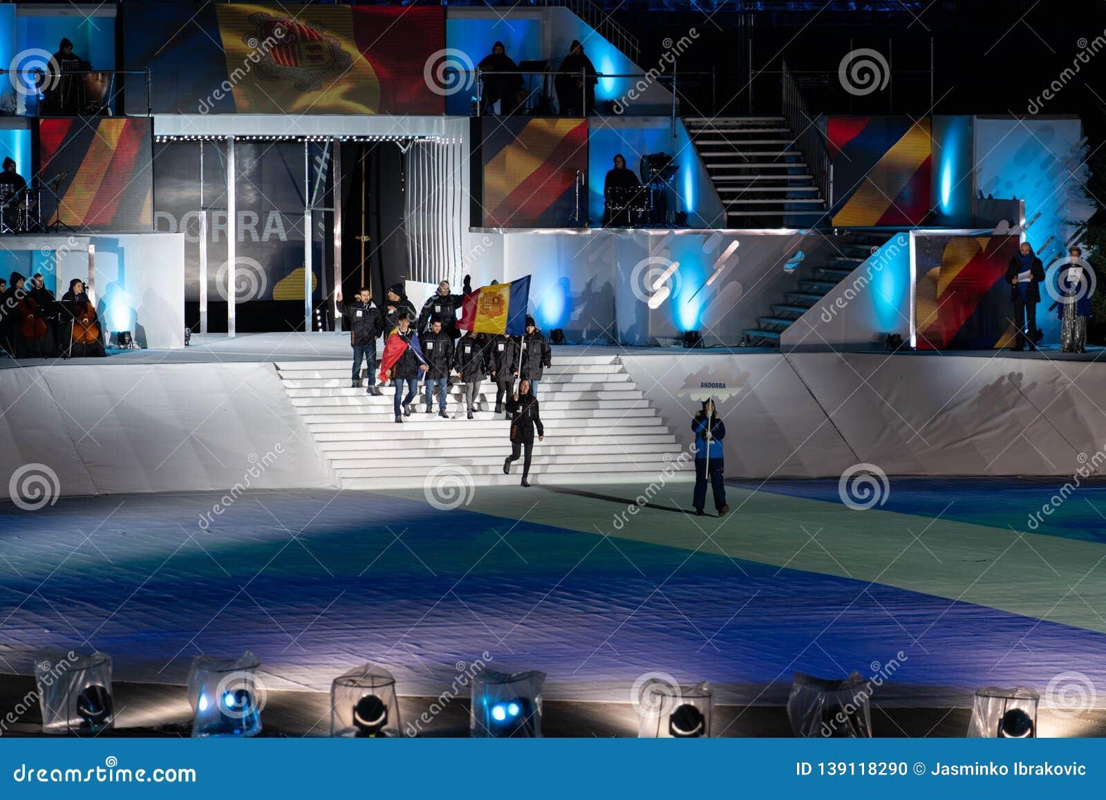 Eyof 2019 öppnande olympiska festival för europeisk ungdom