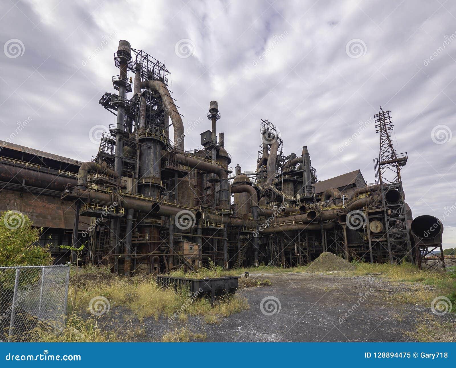 Fábrica de aço ainda que está no PA de Bethlehem