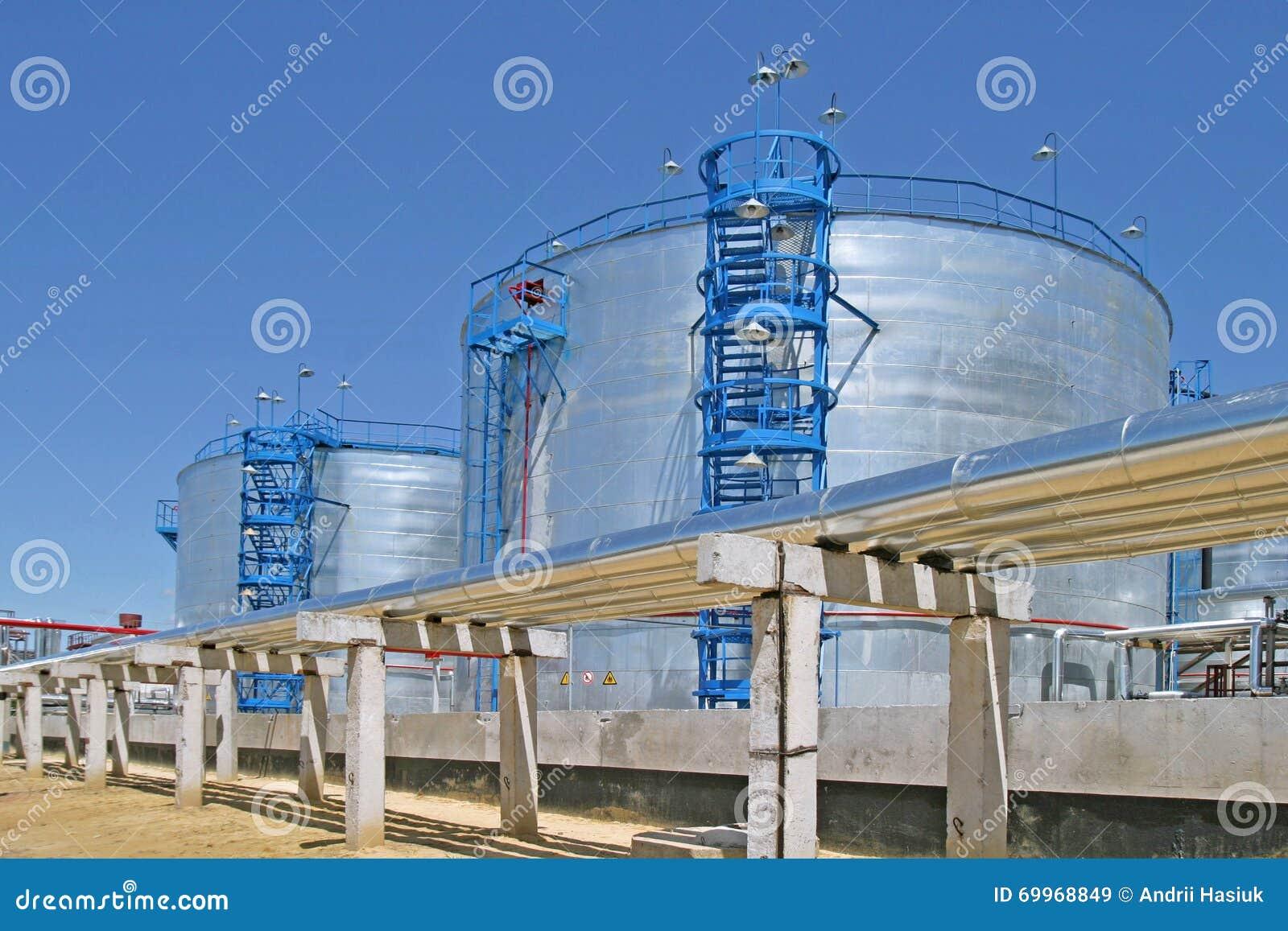 Fábrica de tratamento do petróleo