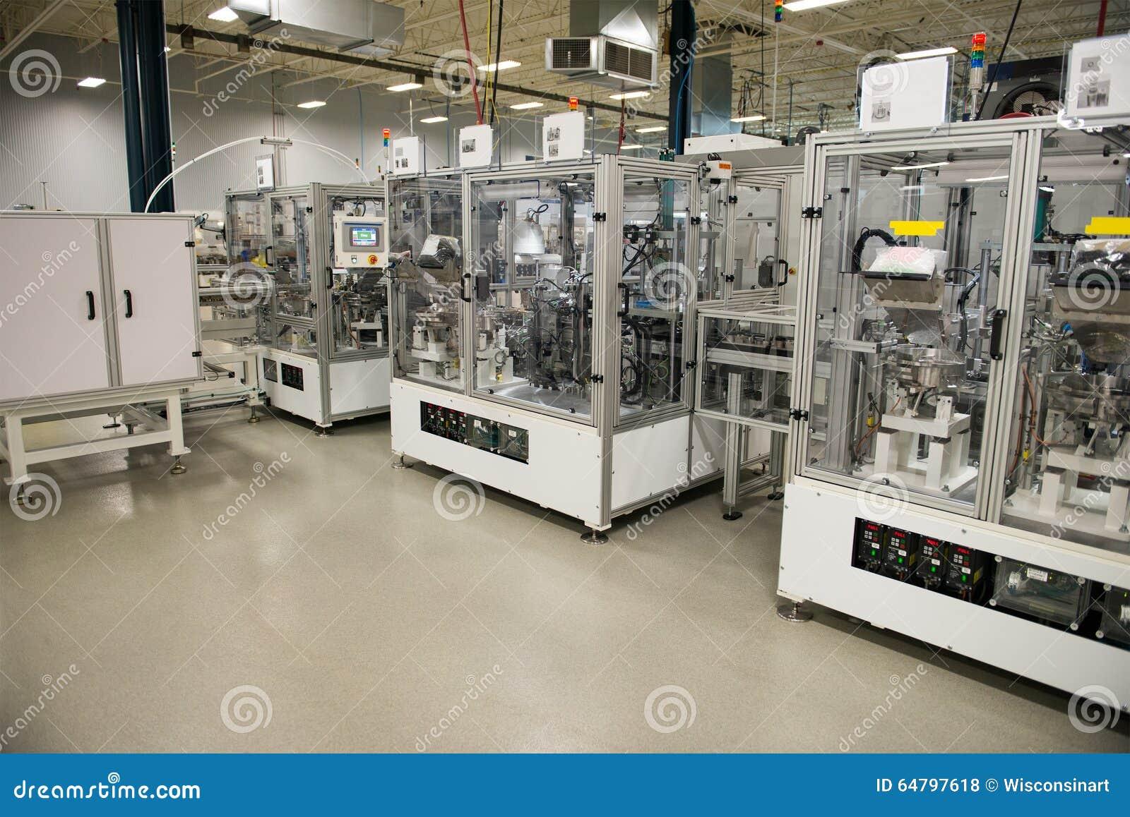 Fábrica industrial de la fabricación, máquinas de la automatización
