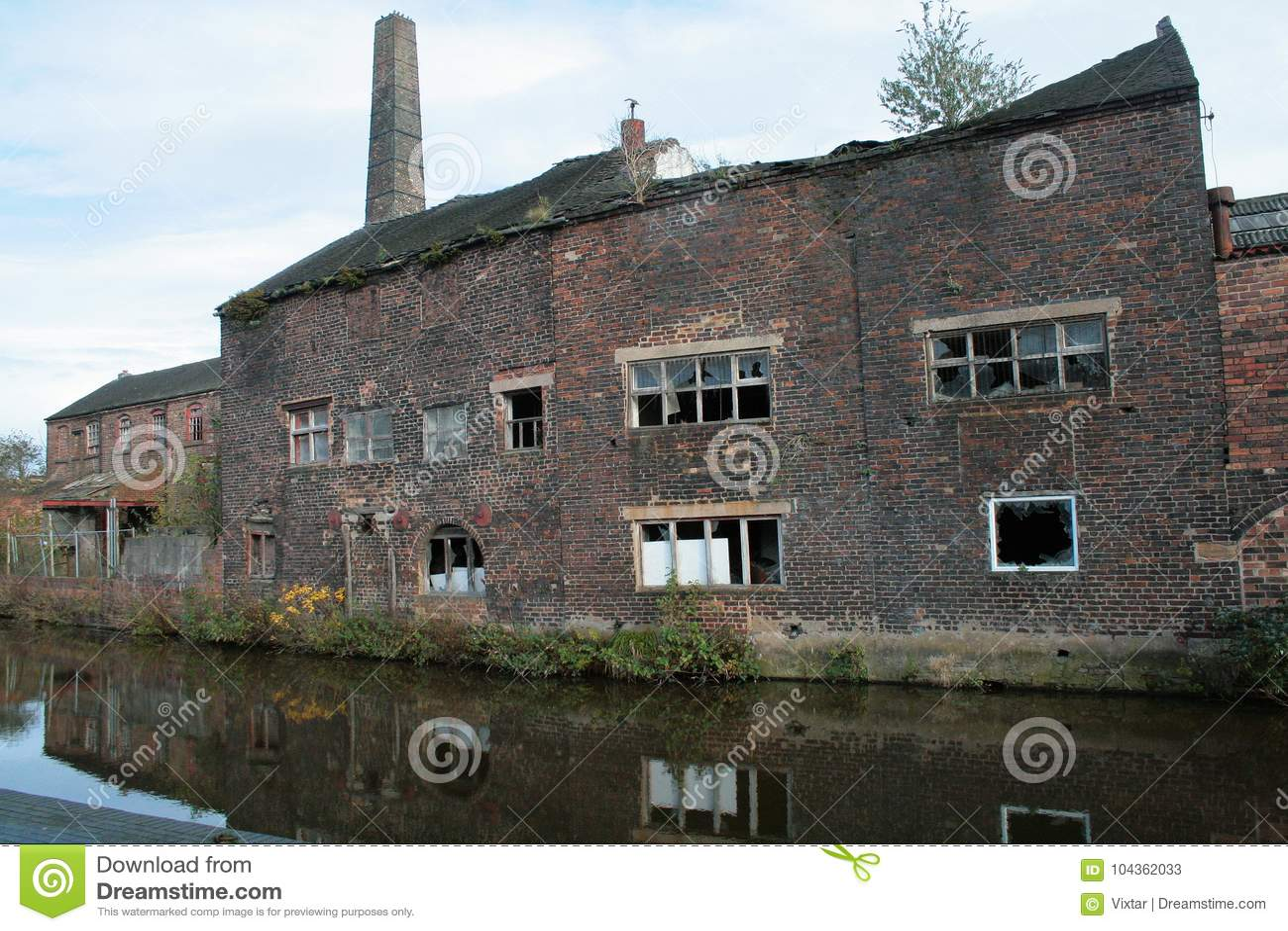 Fábrica velha da cerâmica dentro Avivar-em-Trent, Longport