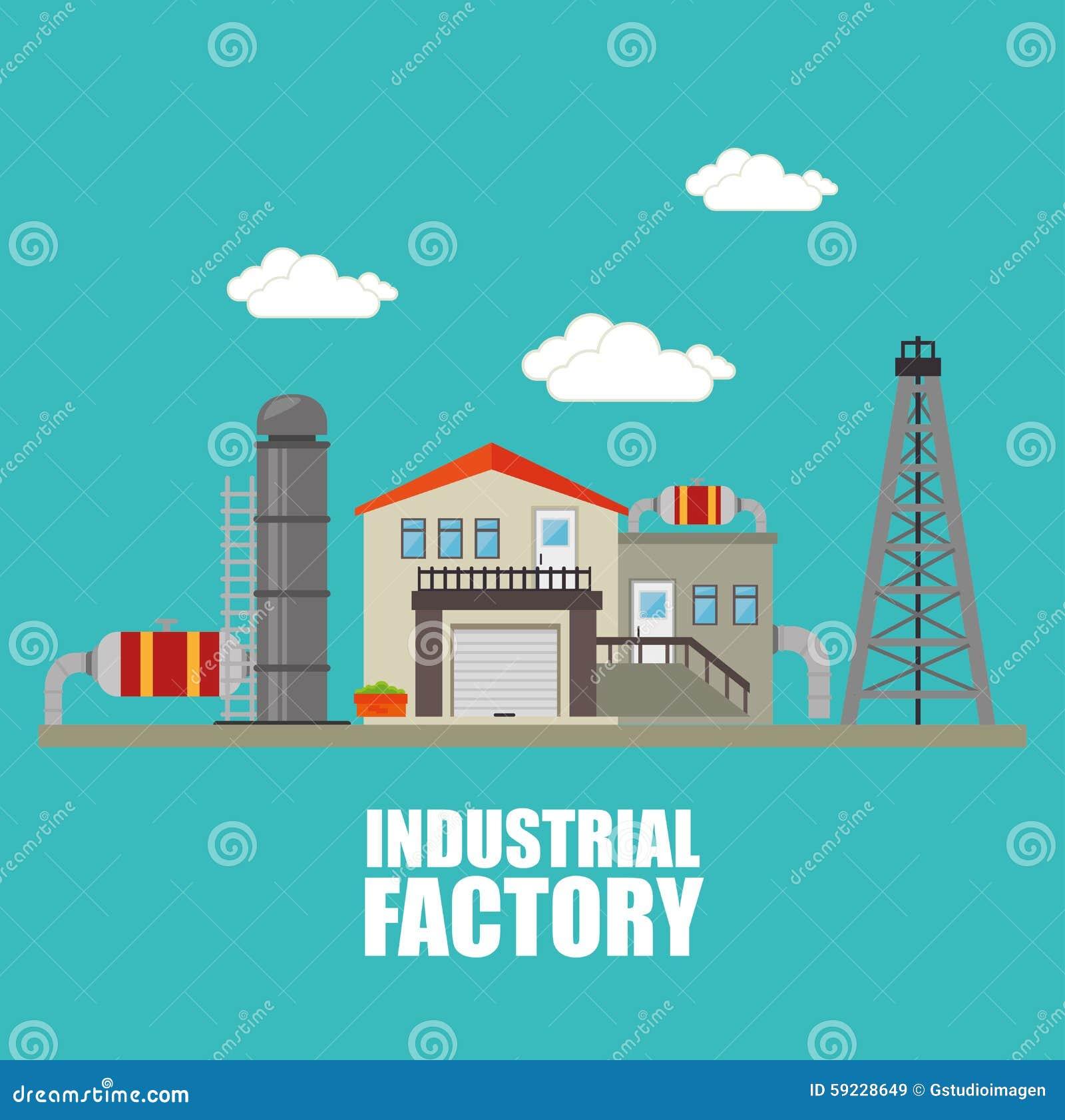 Fábrica y maquinaria de la industria