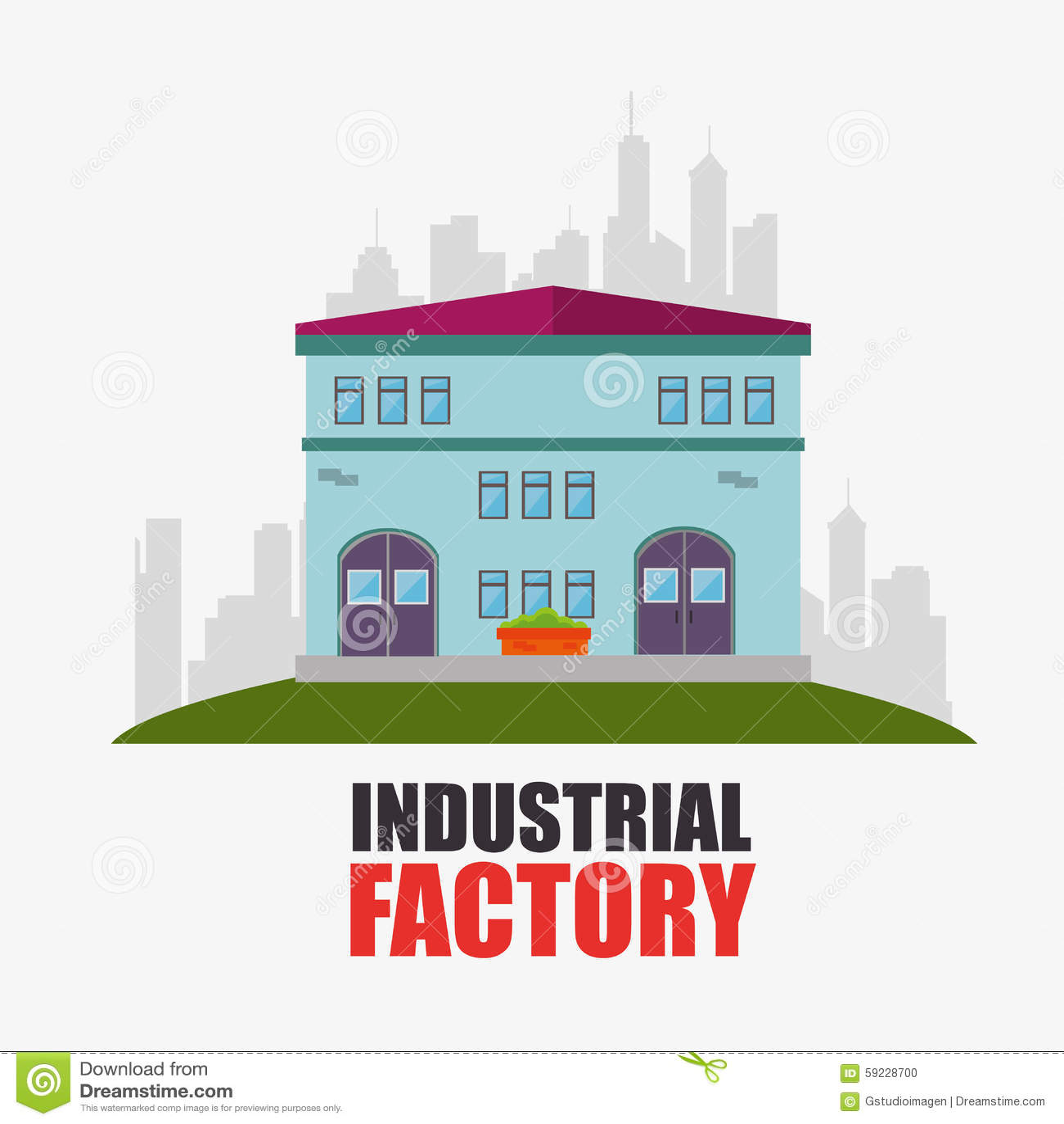 Download Fábrica Y Maquinaria De La Industria Ilustración del Vector - Ilustración de fabricación, industria: 59228700