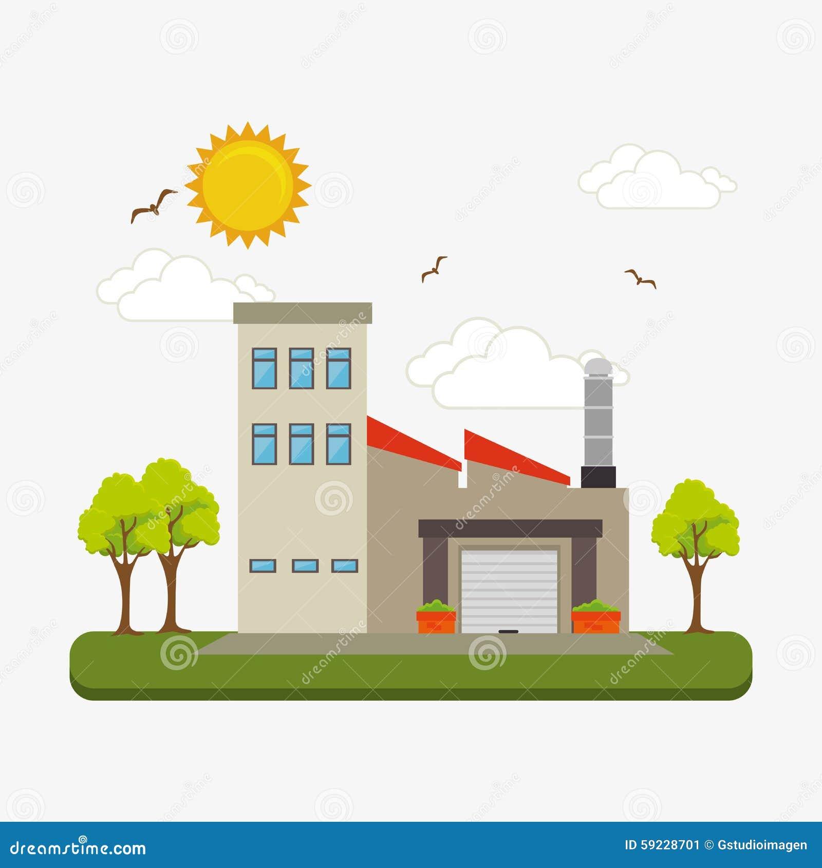 Download Fábrica Y Maquinaria De La Industria Ilustración del Vector - Ilustración de metal, generado: 59228701