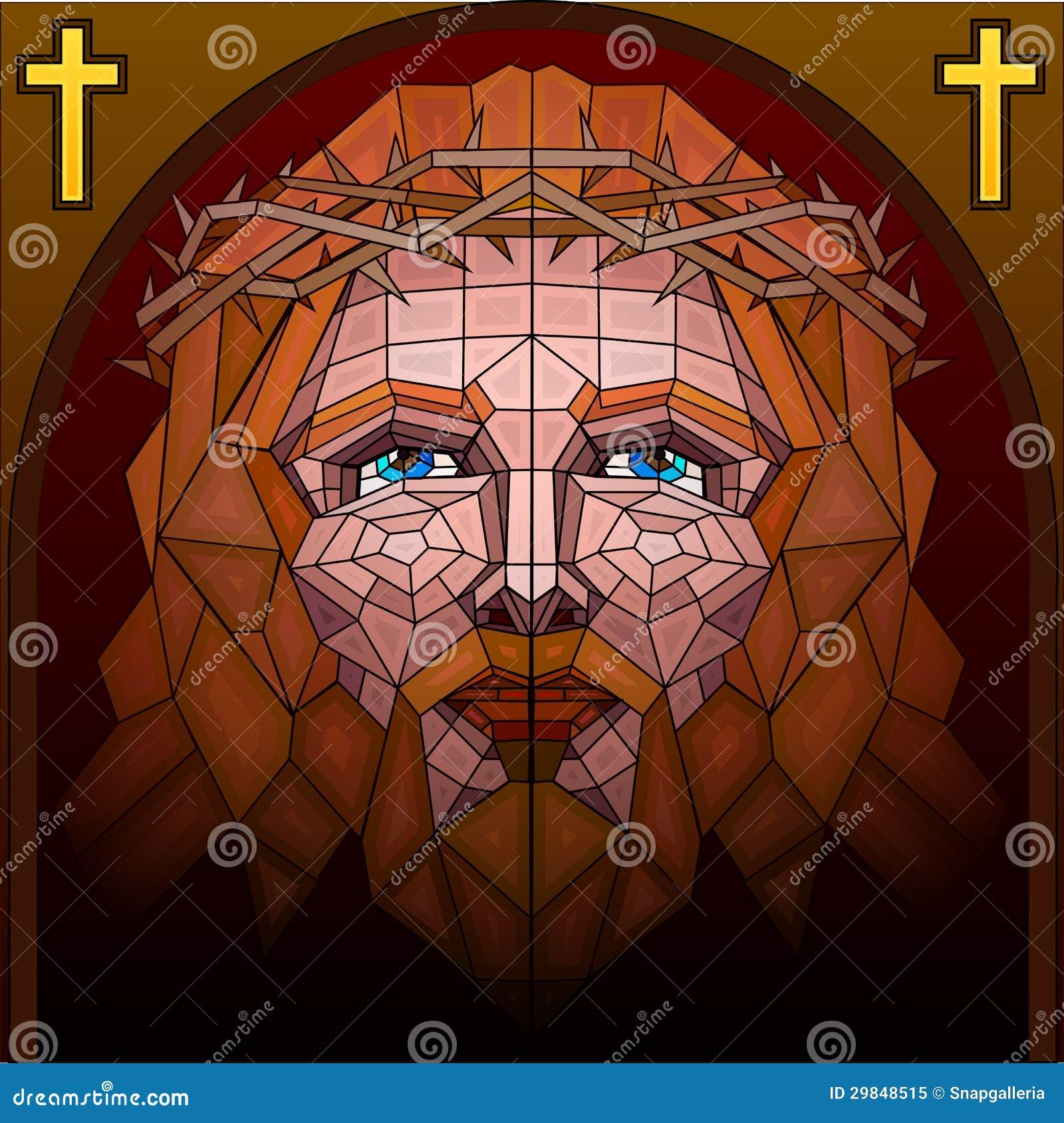 Pintura do vitral do Jesus Cristo