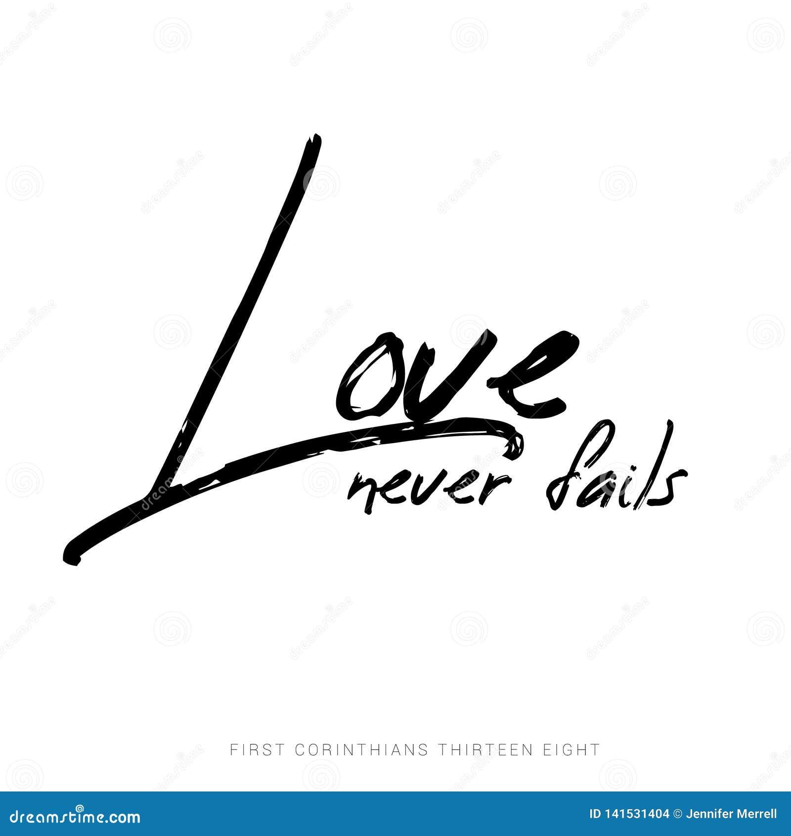 Förälskelse missar aldrig - 1 Corinthians13:8