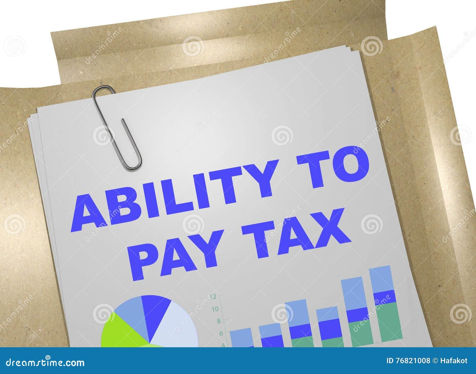 Fähigkeit, Steuerkonzept zu zahlen