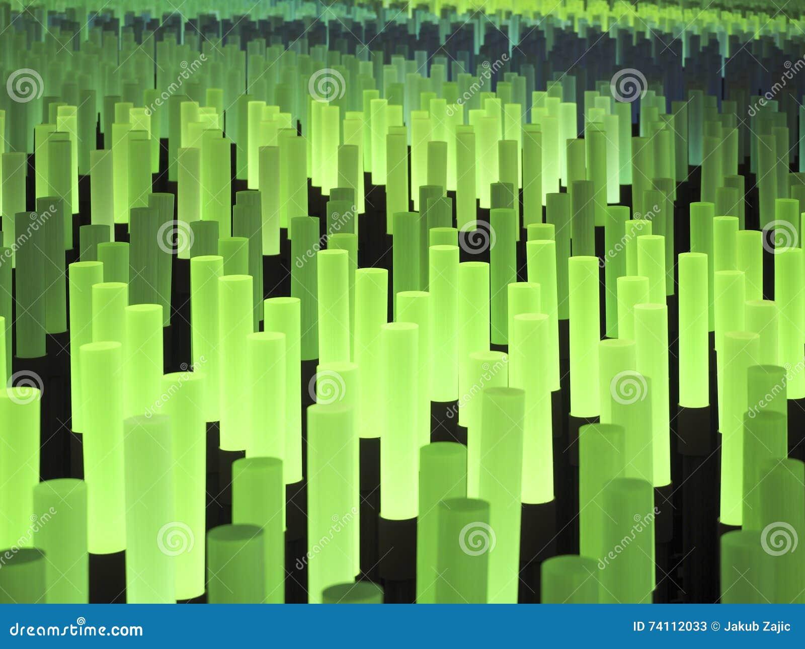 Fält för ljuspinneabstrakt begrepp