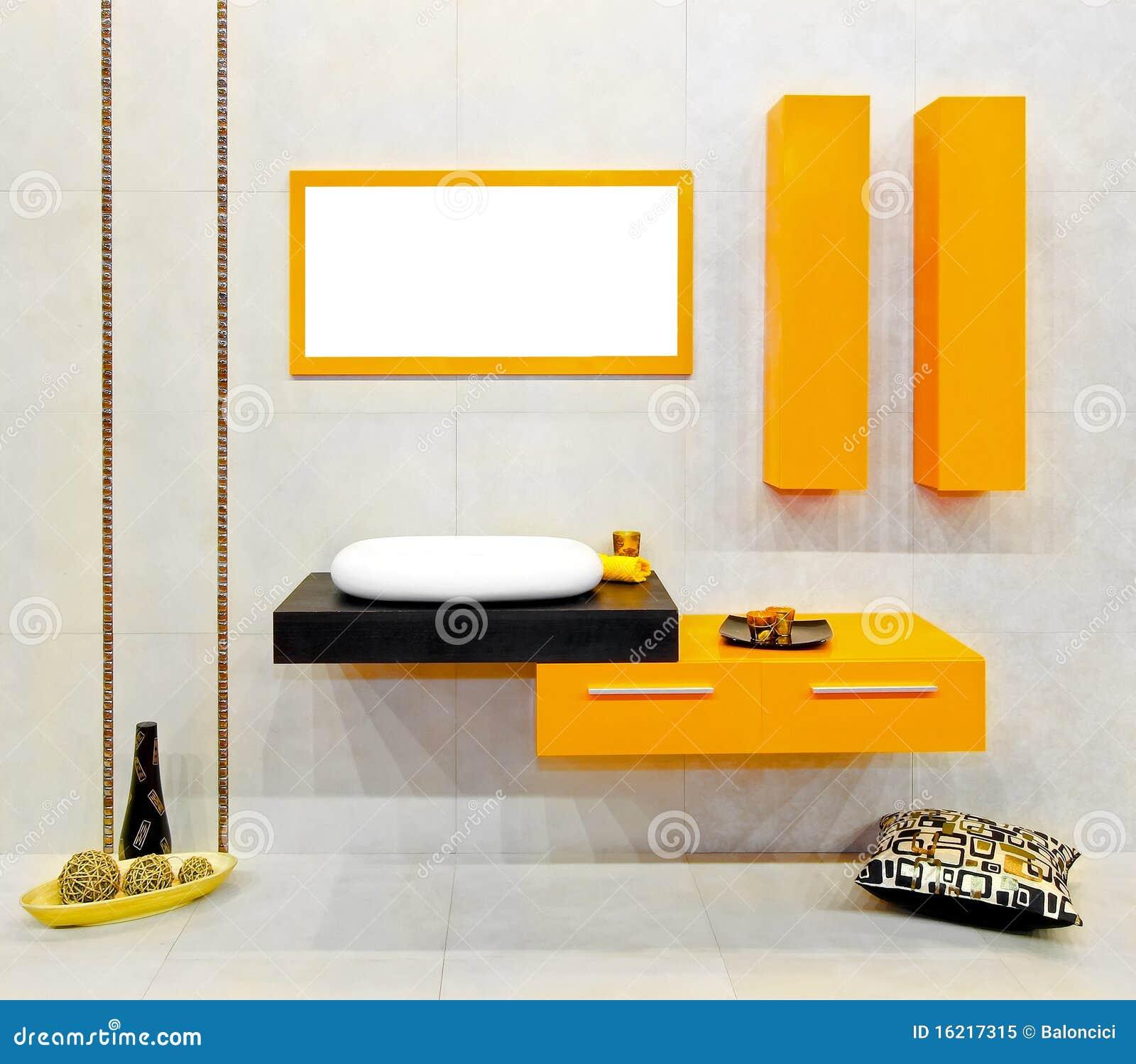 Färben Sie Badezimmer gelb