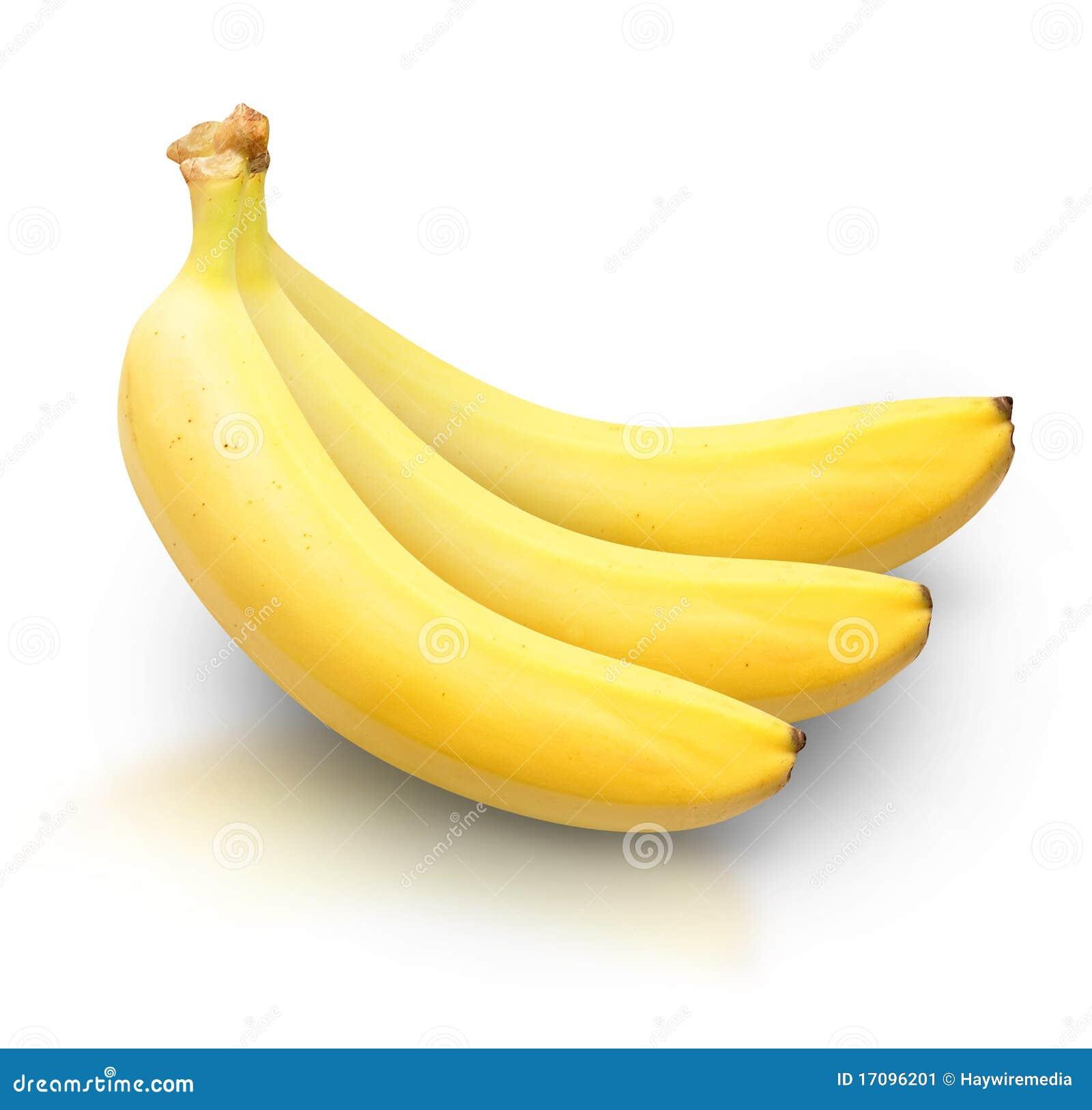 Färben Sie Bananen auf weißem Hintergrund gelb
