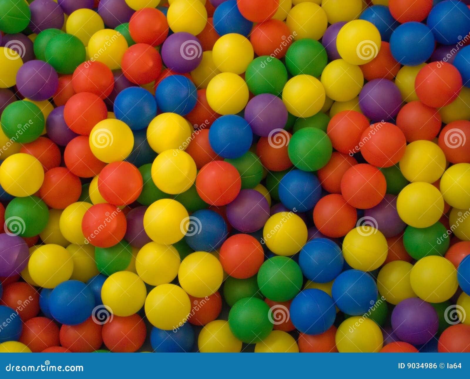 Färben Sie Bild der blauen, grünen, roten, gelben Sportkugel