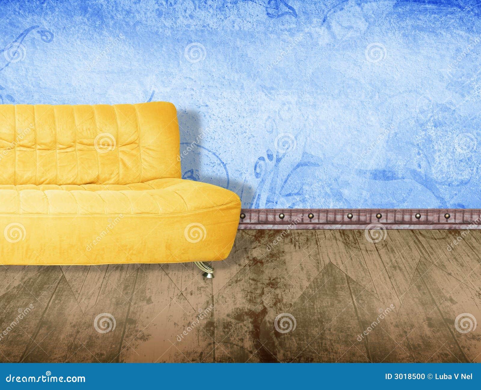 f rben sie couch gelb stockfoto bild 3018500. Black Bedroom Furniture Sets. Home Design Ideas